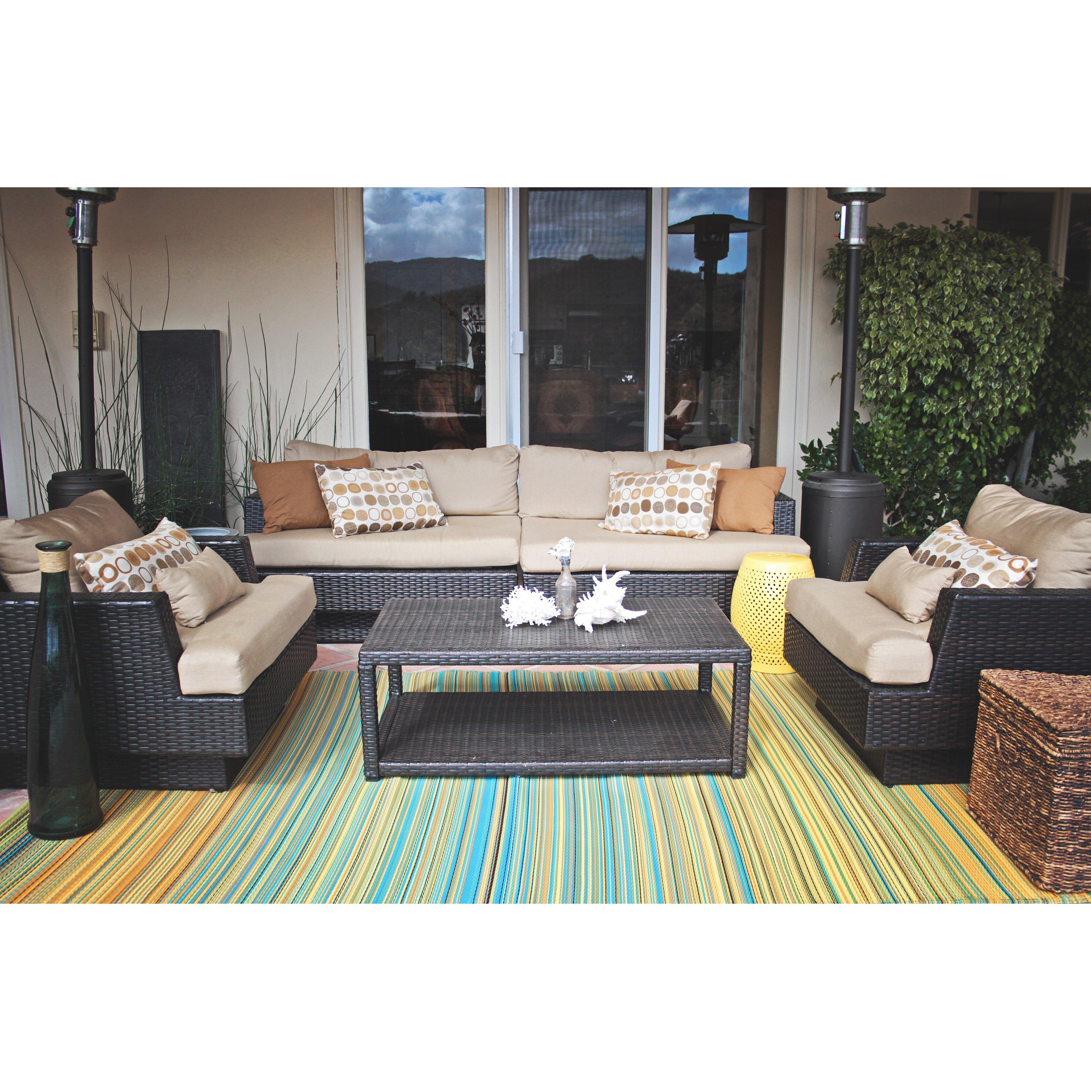 fab habitat handgewebter innen au enteppich cancun in. Black Bedroom Furniture Sets. Home Design Ideas