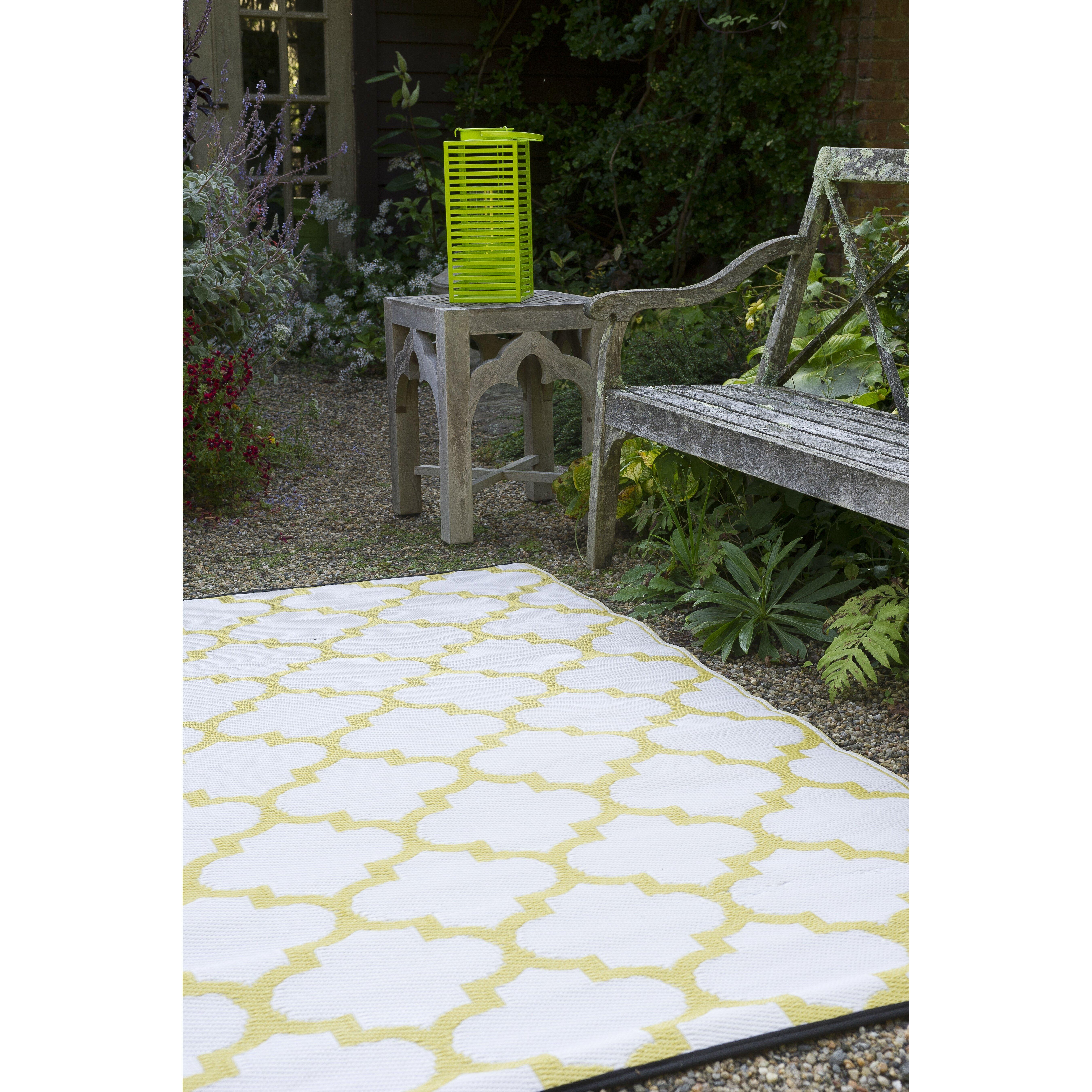 Fab Habitat Tangier Hand-Woven Bright Yellow Indoor