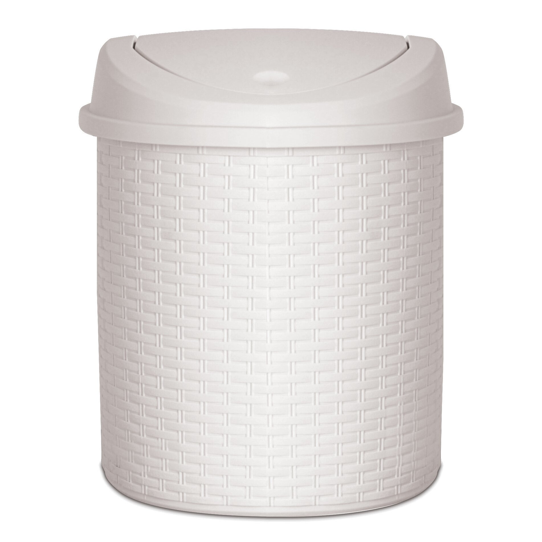 superior performance 5 5 gallon swing top plastic trash can reviews wayfair. Black Bedroom Furniture Sets. Home Design Ideas