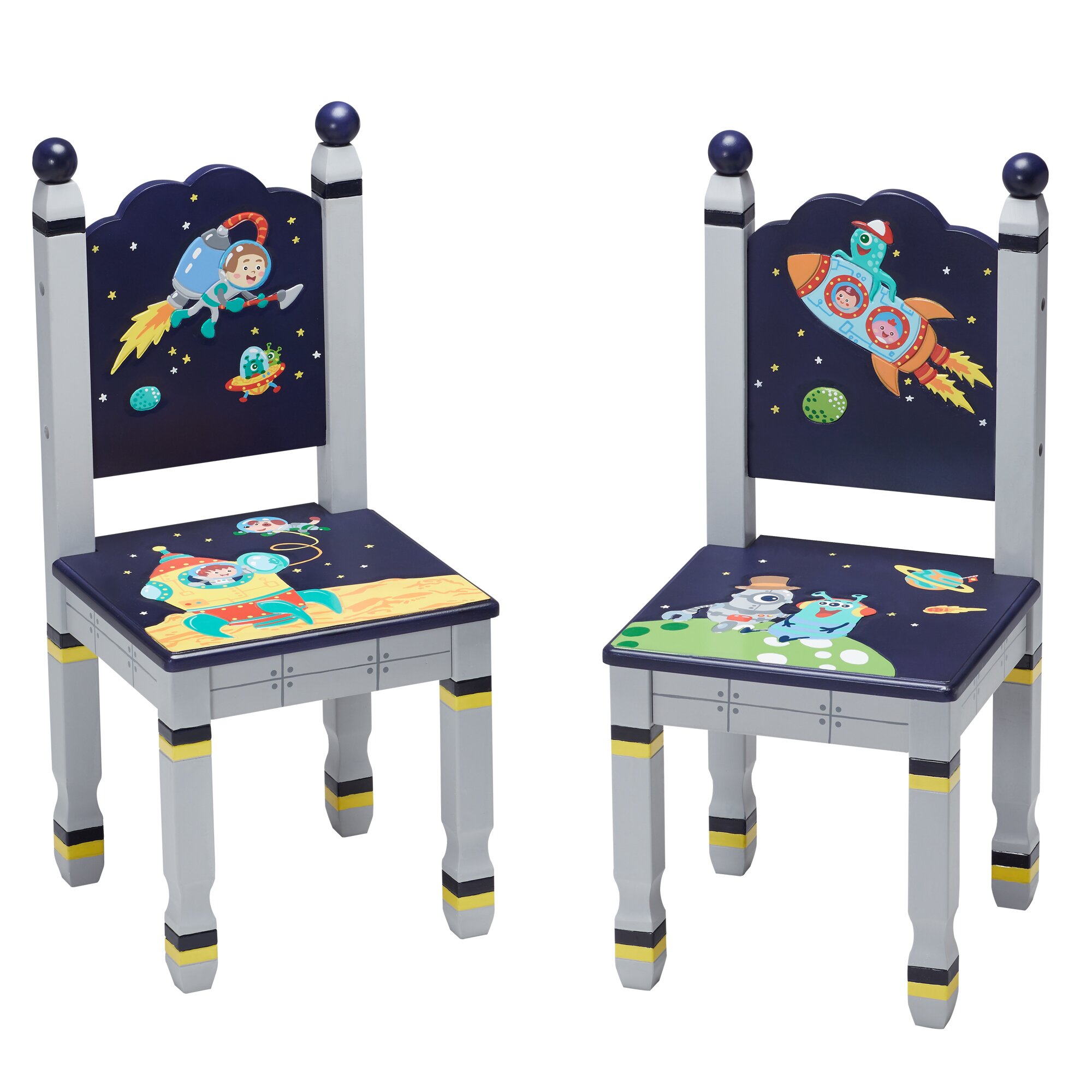 Fantasy fields outer space kids 3 piece rectangle table for Html table spacing