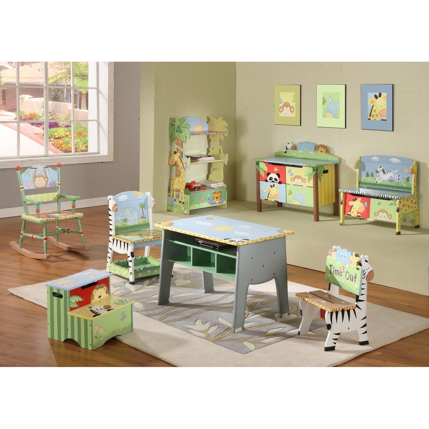 fantasy fields sunny safari kids arts and crafts table. Black Bedroom Furniture Sets. Home Design Ideas