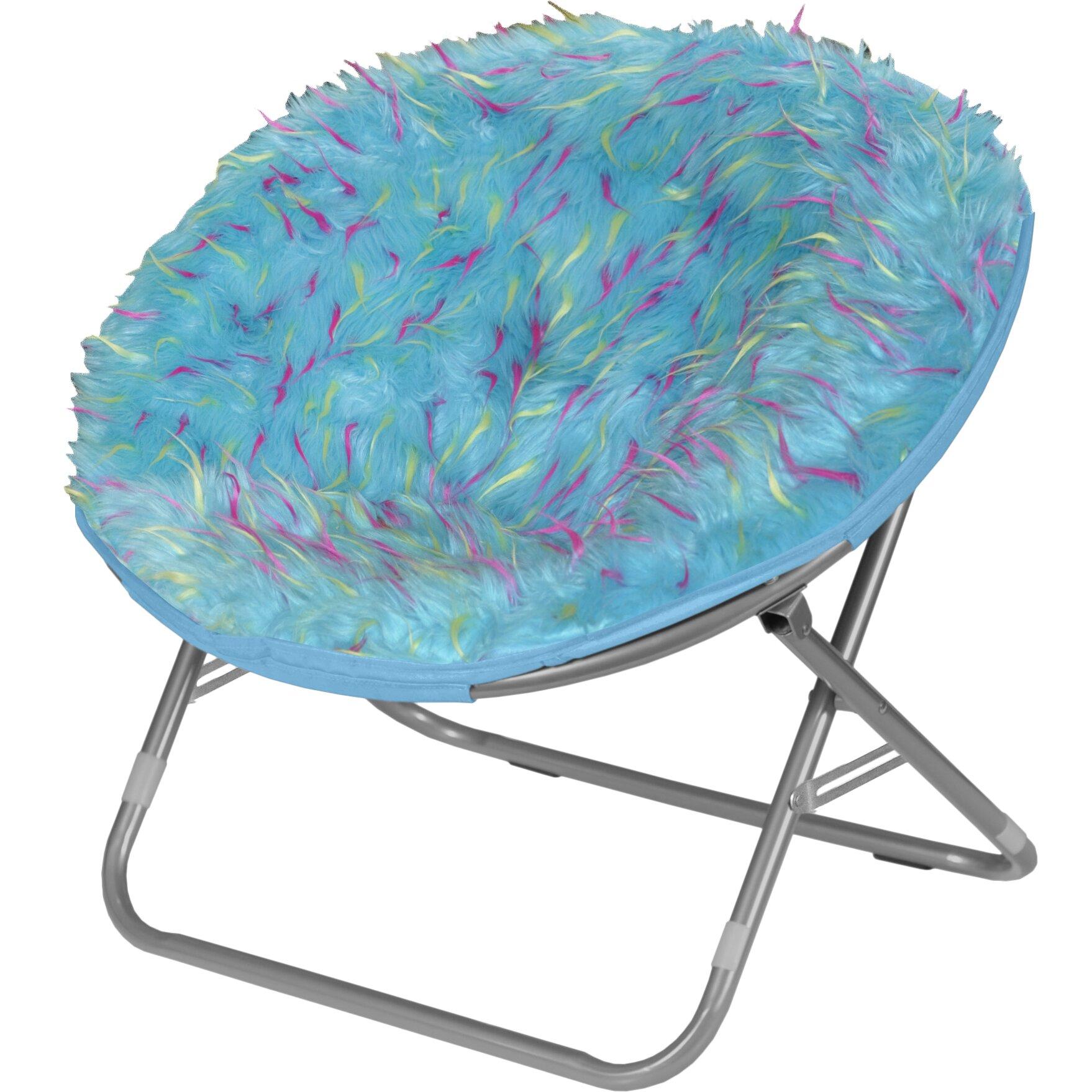 Idea Nuova Rock Your Room Spiker Faux Fur Saucer Papasan