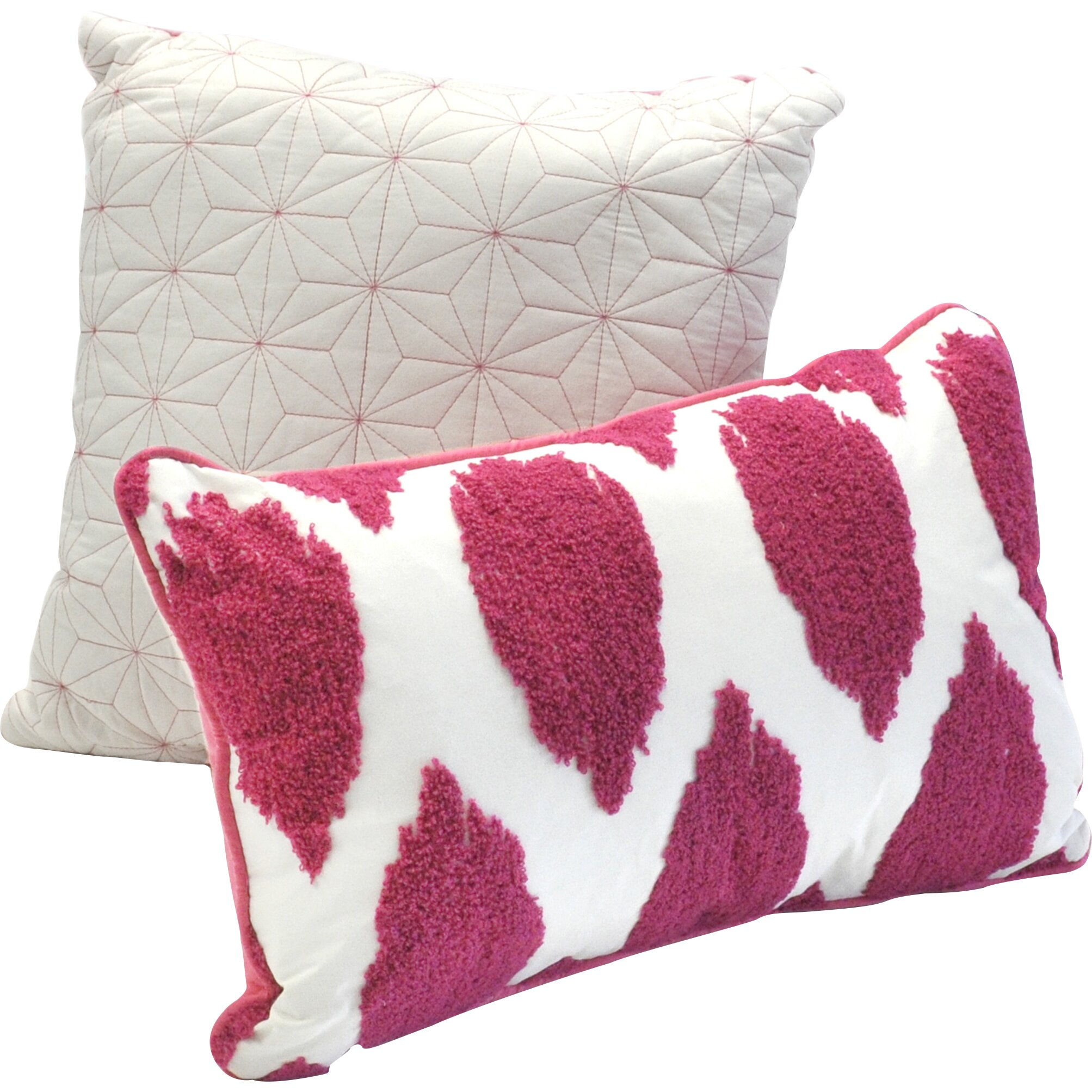 Decorative Pillow Sets : Seventeen Deliah Ikat 2 Piece Cotton Decorative Pillow Set & Reviews Wayfair