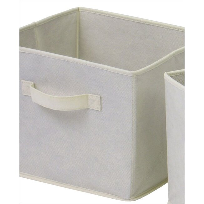 Zipcode design decker foldable basket in beige reviews for Beige bathroom bin