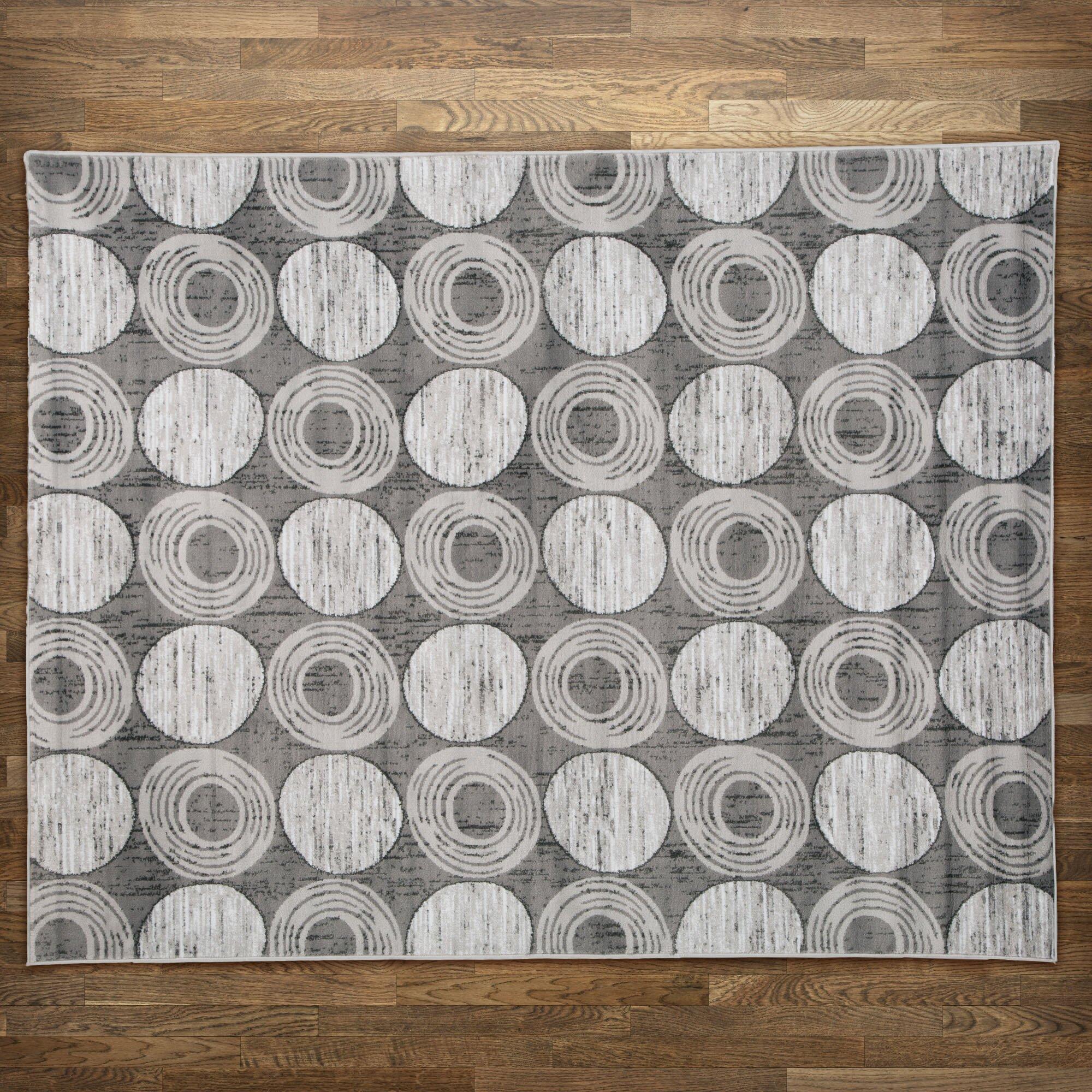 Zipcode™ Design Gray Circles Area Rug & Reviews