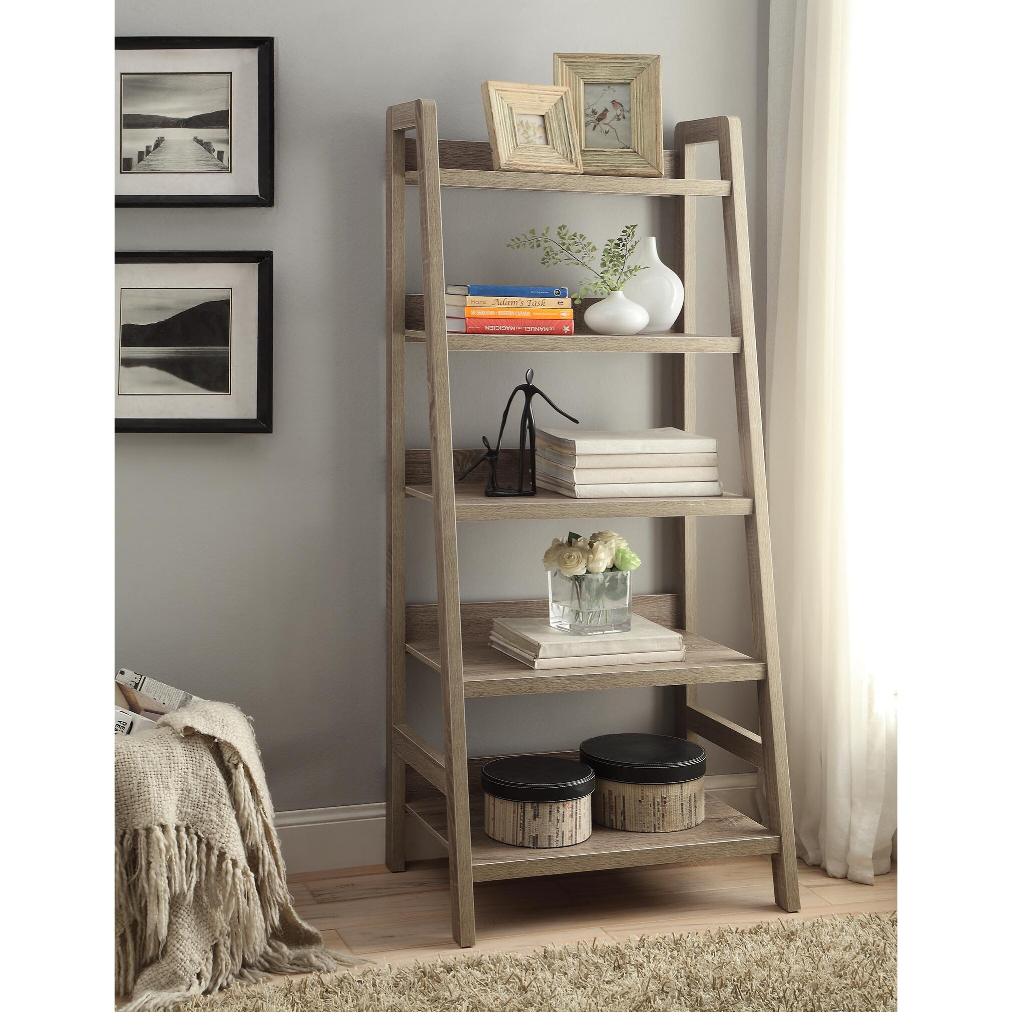 Zipcode Design Sylvia 60 Quot Leaning Bookcase Amp Reviews