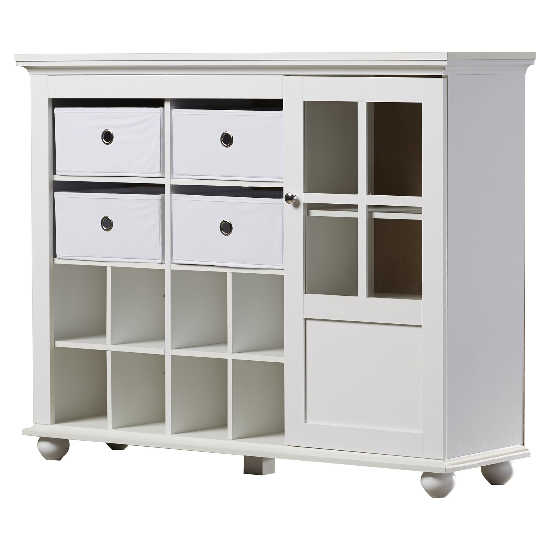 Zipcode design anna storage cabinet reviews wayfair for Cheap white cabinets sale