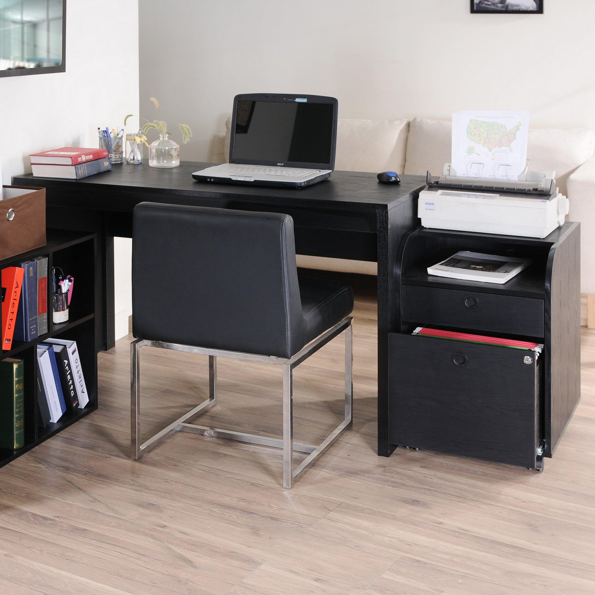 Zipcode™ Design Naomi 2 Piece Modular Computer Desk With. Backless Desk Chair. Short Console Table. Apple Computer Help Desk. Table Lamp With Nightlight Base. Rental Tables. Desk Decor. Diy Vintage Desk. Engraved Desk Set