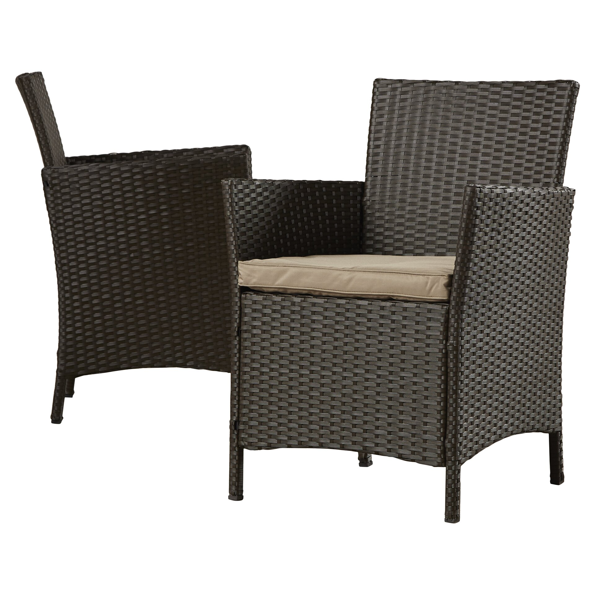 Zipcode Design Esmeralda Resin Wicker 4 Piece Deep Seating Group With Cushio