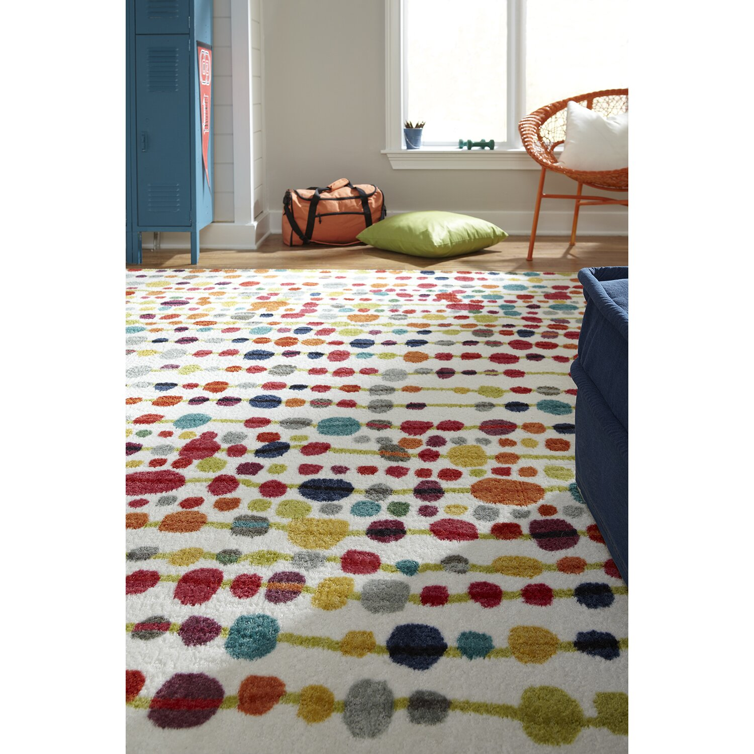 Zipcode design strata cut pile blue red area rug for Decor 140 rugs