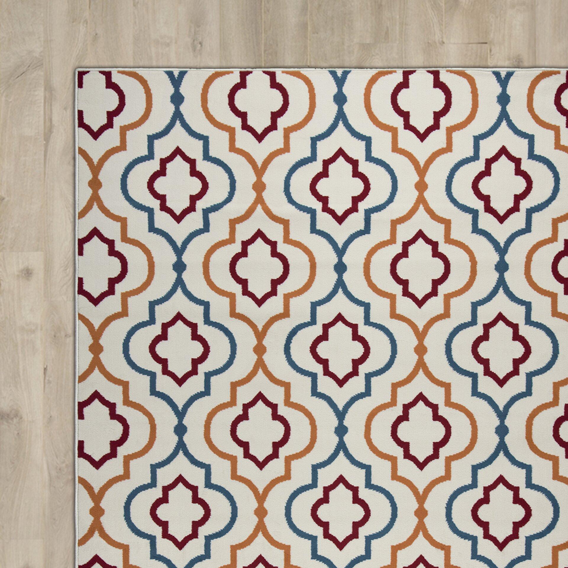 Zipcode™ Design Lucia Ivory/Orange/Green Indoor/Outdoor