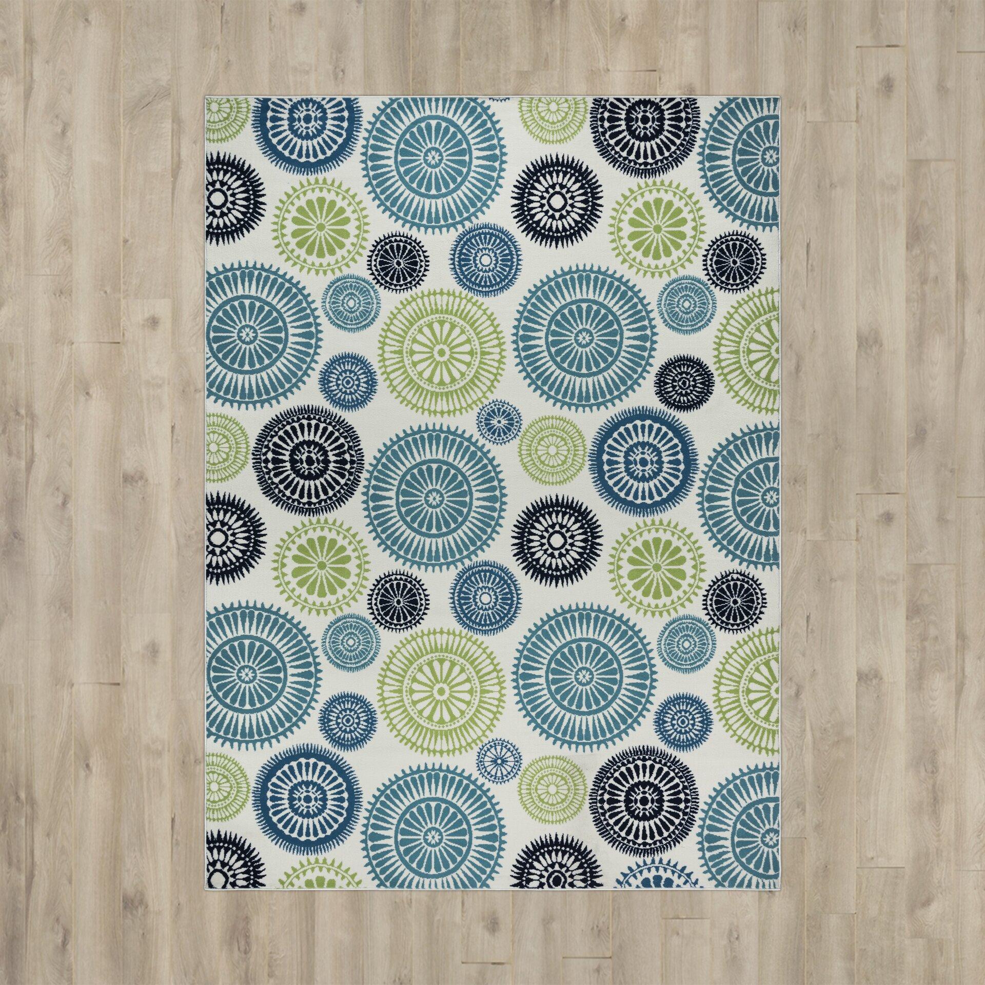 Zipcode™ Design Lucia Ivory/Green/Blue Indoor/Outdoor Area