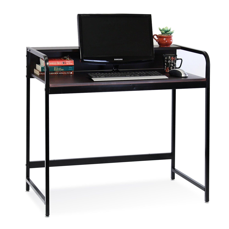zipcode design natalie writing desk with top shelf. Black Bedroom Furniture Sets. Home Design Ideas