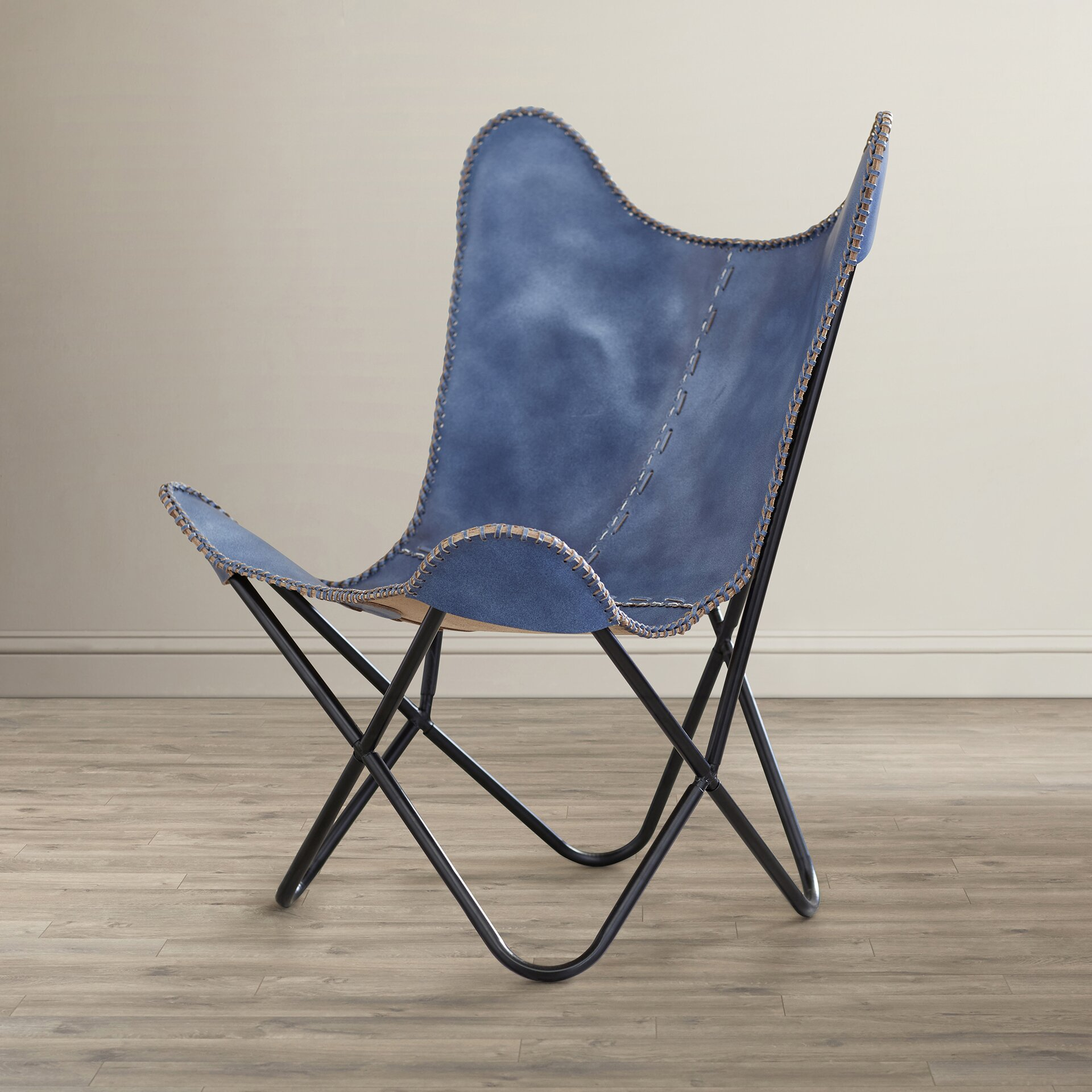 Zipcode Design Sharon Leather Butterfly Lounge Chair
