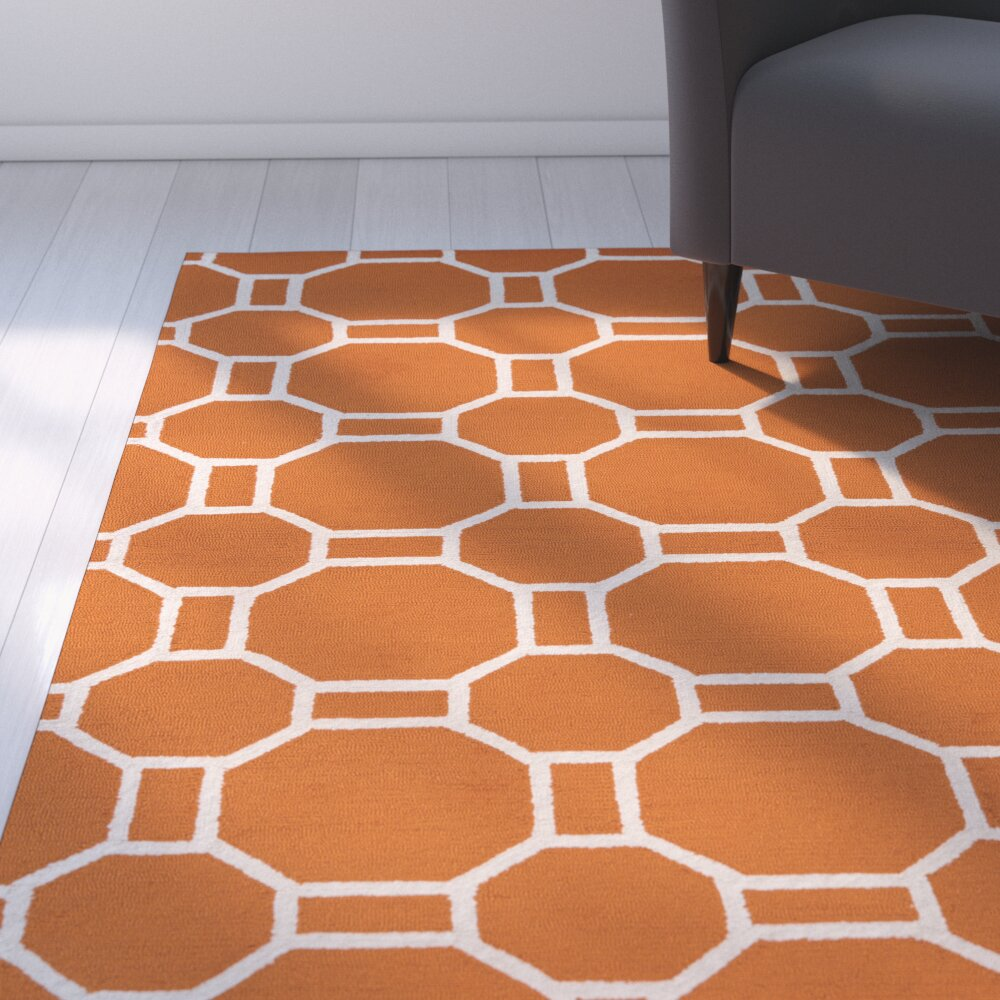 Zipcode™ Design June Hand-Tufted Orange Indoor/Outdoor