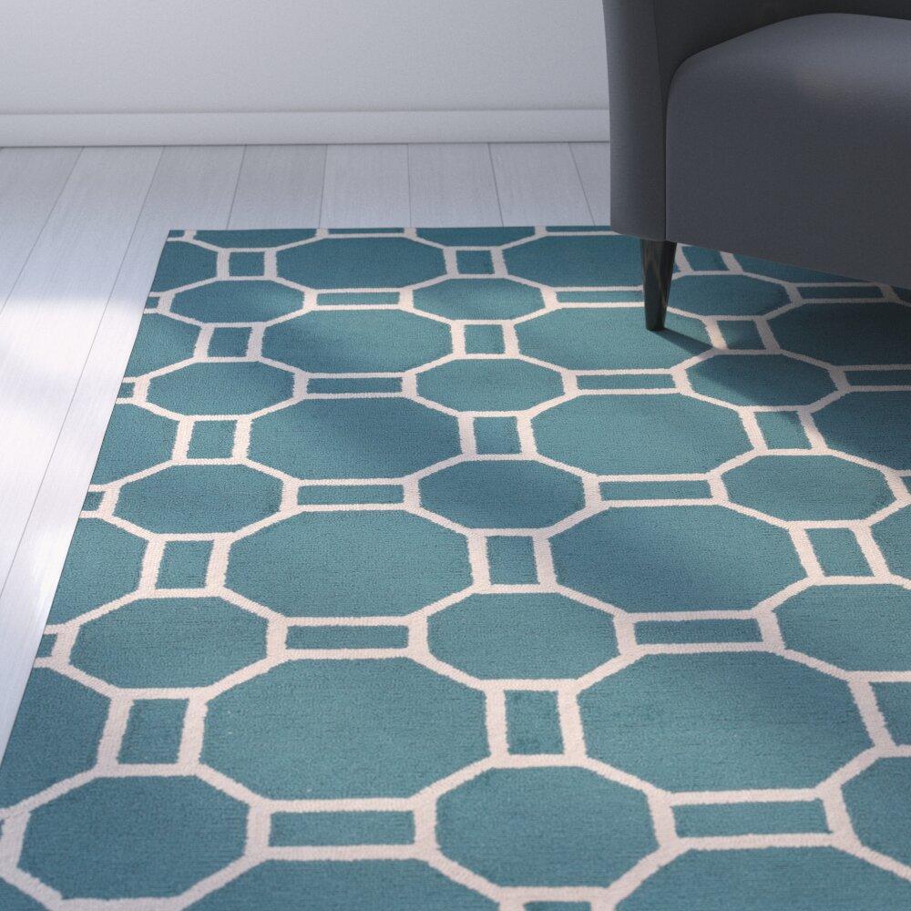 Zipcode™ Design June Hand Tufted Teal Indoor Outdoor Area