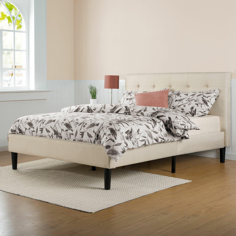 Zipcodetm design cody upholstered platform bed reviews for Upholstered dog bed