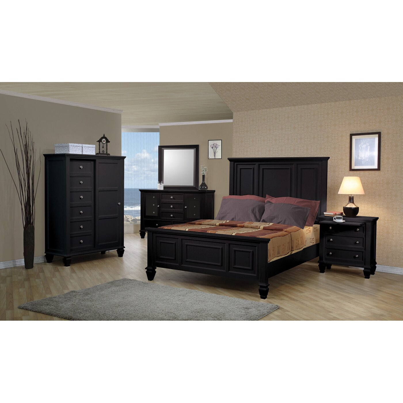Wildon Home Sankaty Panel Customizable Bedroom Set Reviews Wayfair