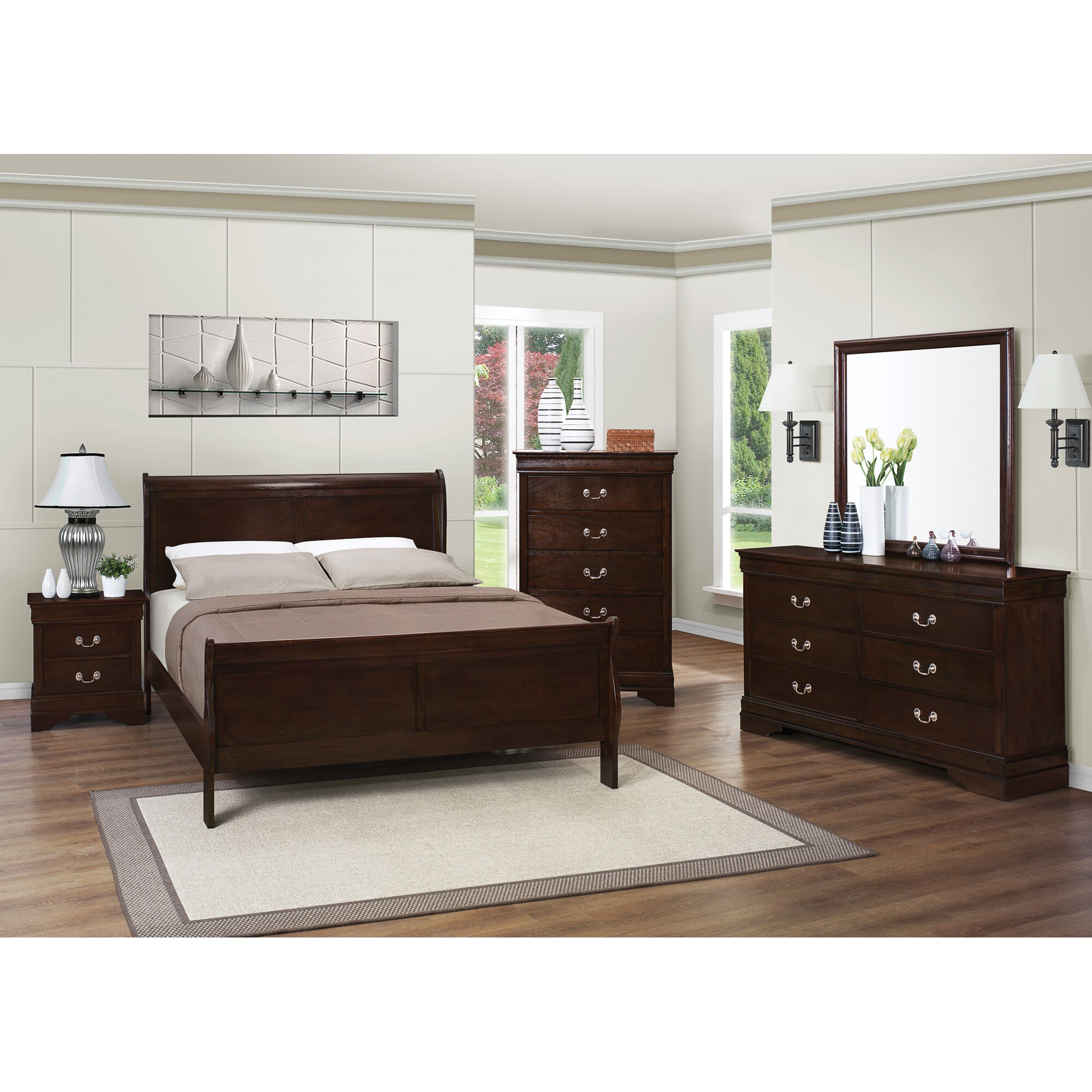 Charlton home richard panel customizable bedroom set for Bedroom furniture montreal