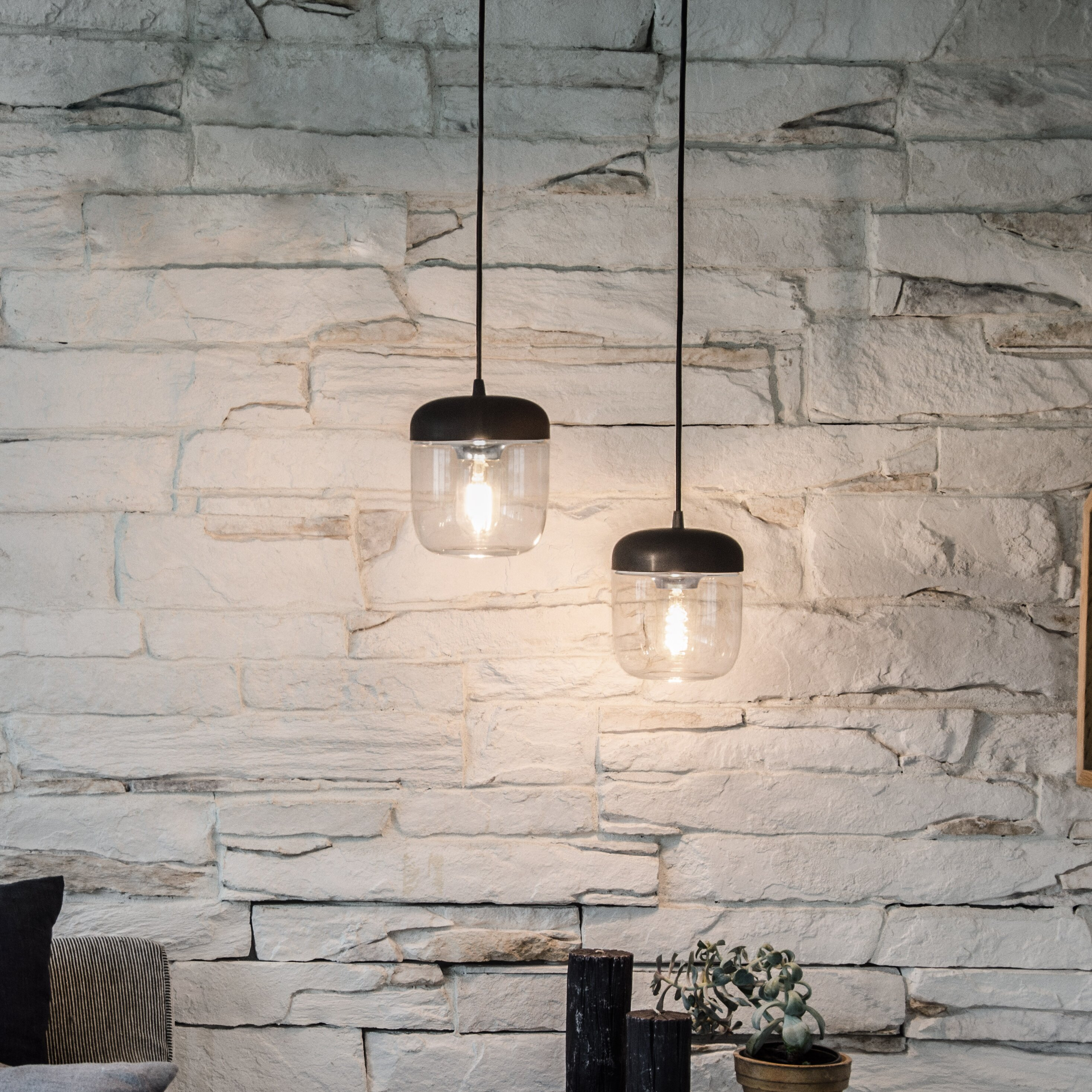 vita copenhagen acorn 1 light hardwired mini pendant. Black Bedroom Furniture Sets. Home Design Ideas