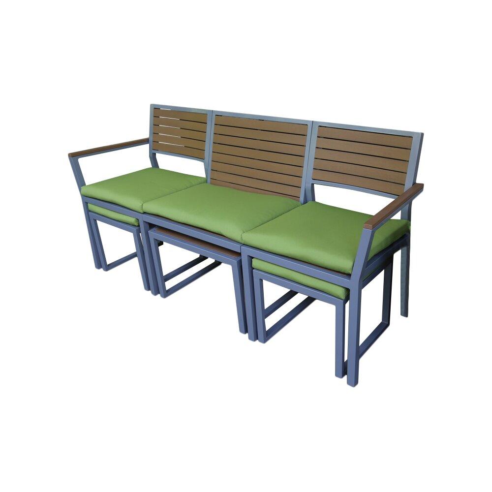 Ae Outdoor Pelham Aluminum Garden Bench Reviews Wayfair