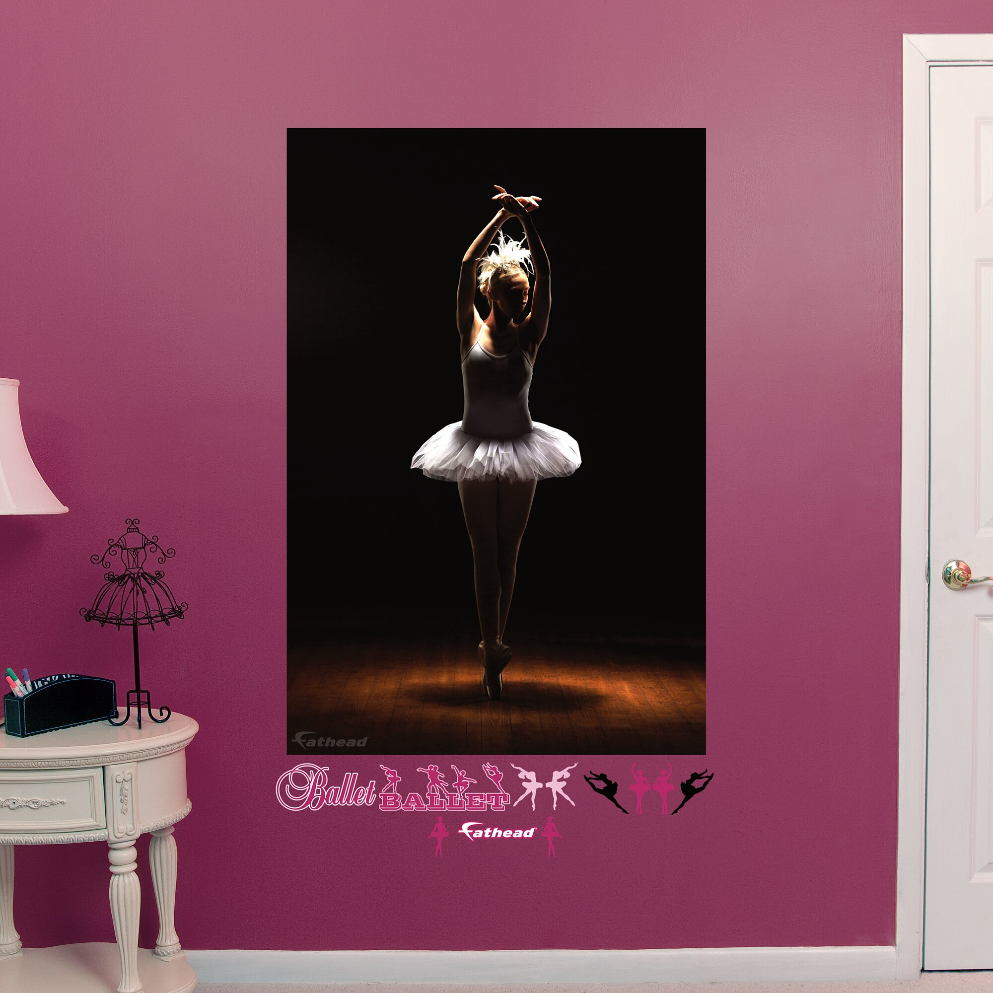 fathead ballerina peel and stick wall mural wayfair