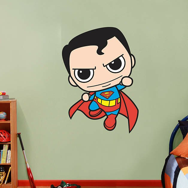 Fathead dc comics superman kids peel and stick wall for Superman wall decal