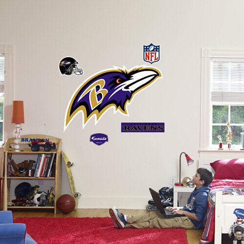 Fathead nfl logo wall decal reviews for Baltimore glassware decorators