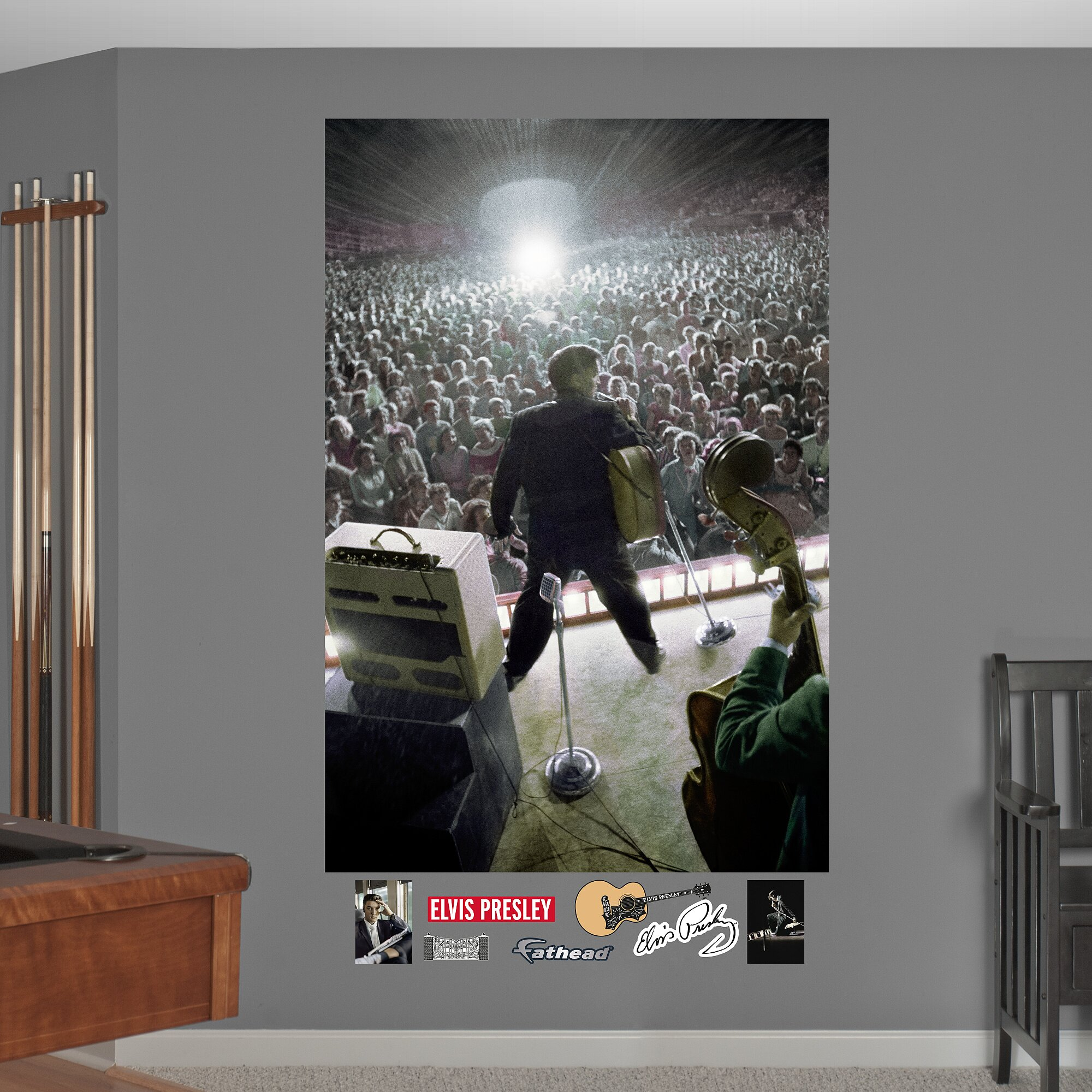 Fathead elvis presley concert wall mural wayfair for Concerts at the mural