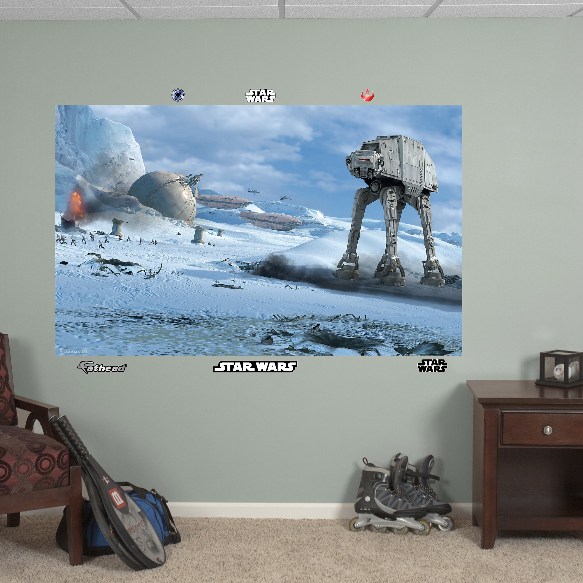Fathead star wars at at battle wall mural reviews for Mural star wars