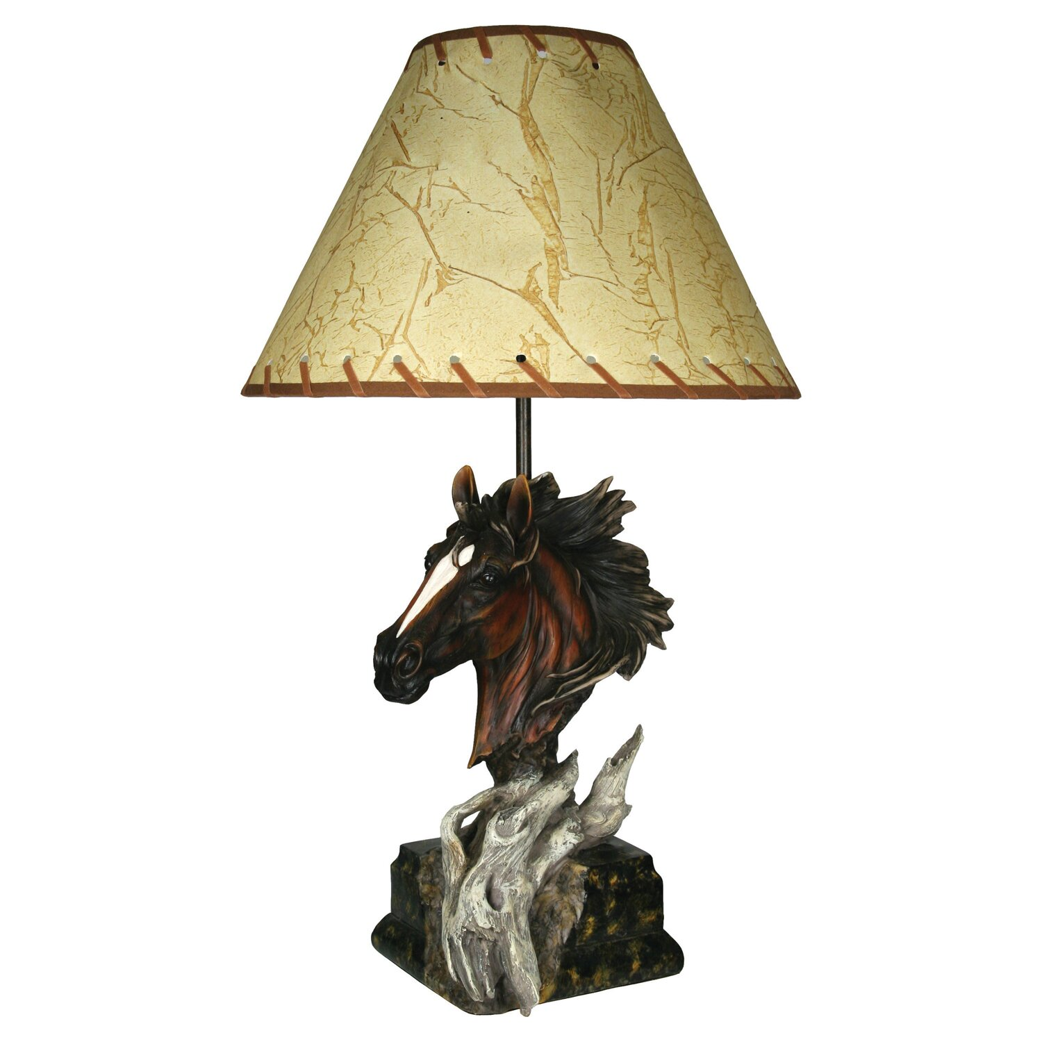 river 39 s edge products horse 23 table lamp reviews wayfair. Black Bedroom Furniture Sets. Home Design Ideas