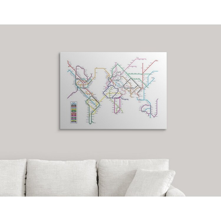 Great Big Canvas 39 World Tube Metro Map 39 By Michael