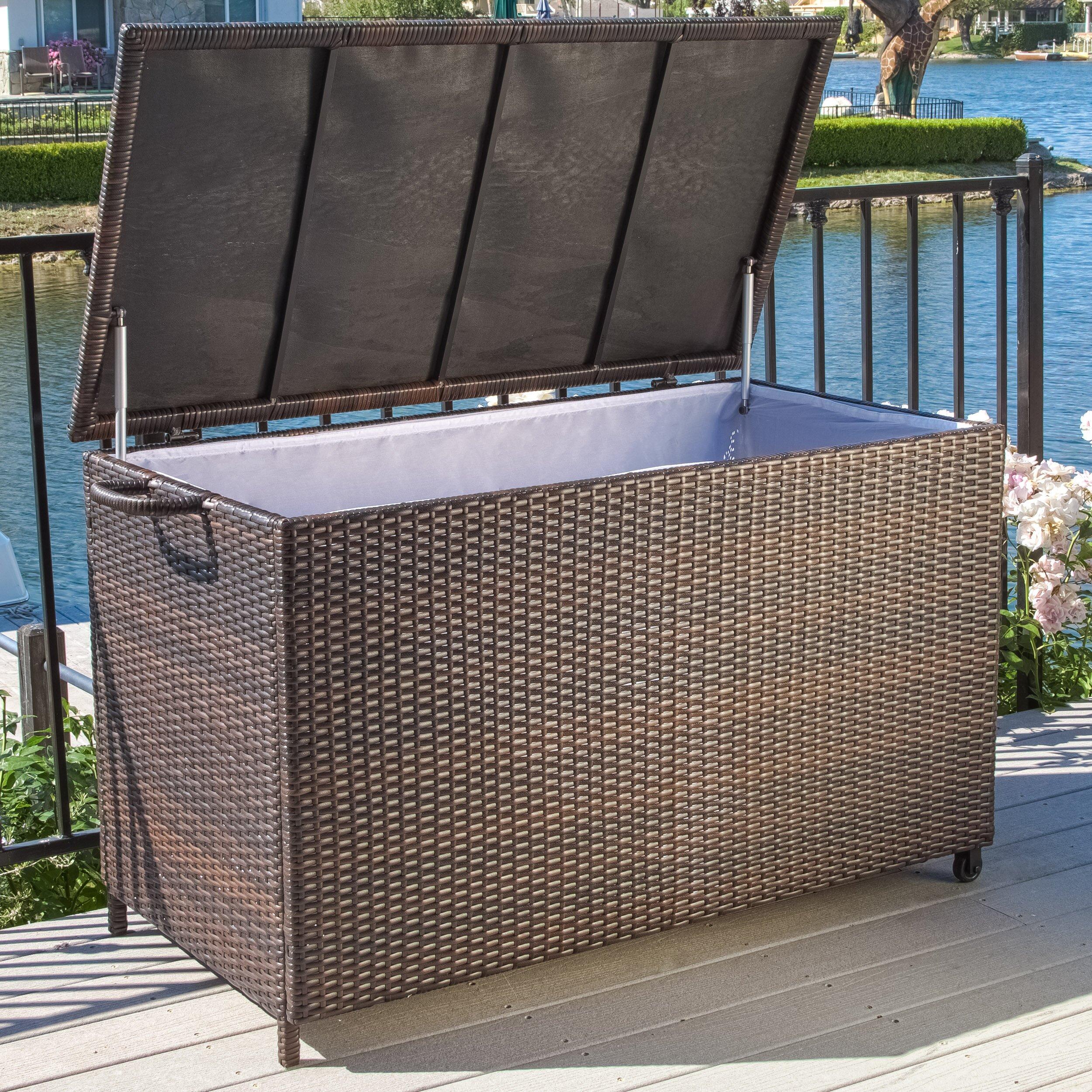 Home Loft Concepts Hampton 150 Gallon Wicker Deck Box