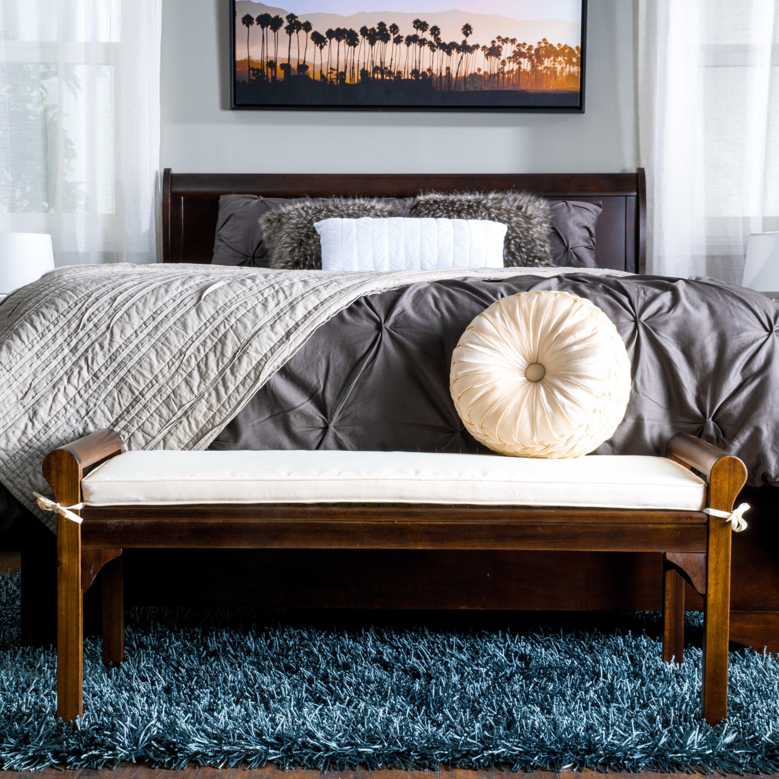 Home Loft Concepts Berkeley Wood Bedroom Bench & Reviews