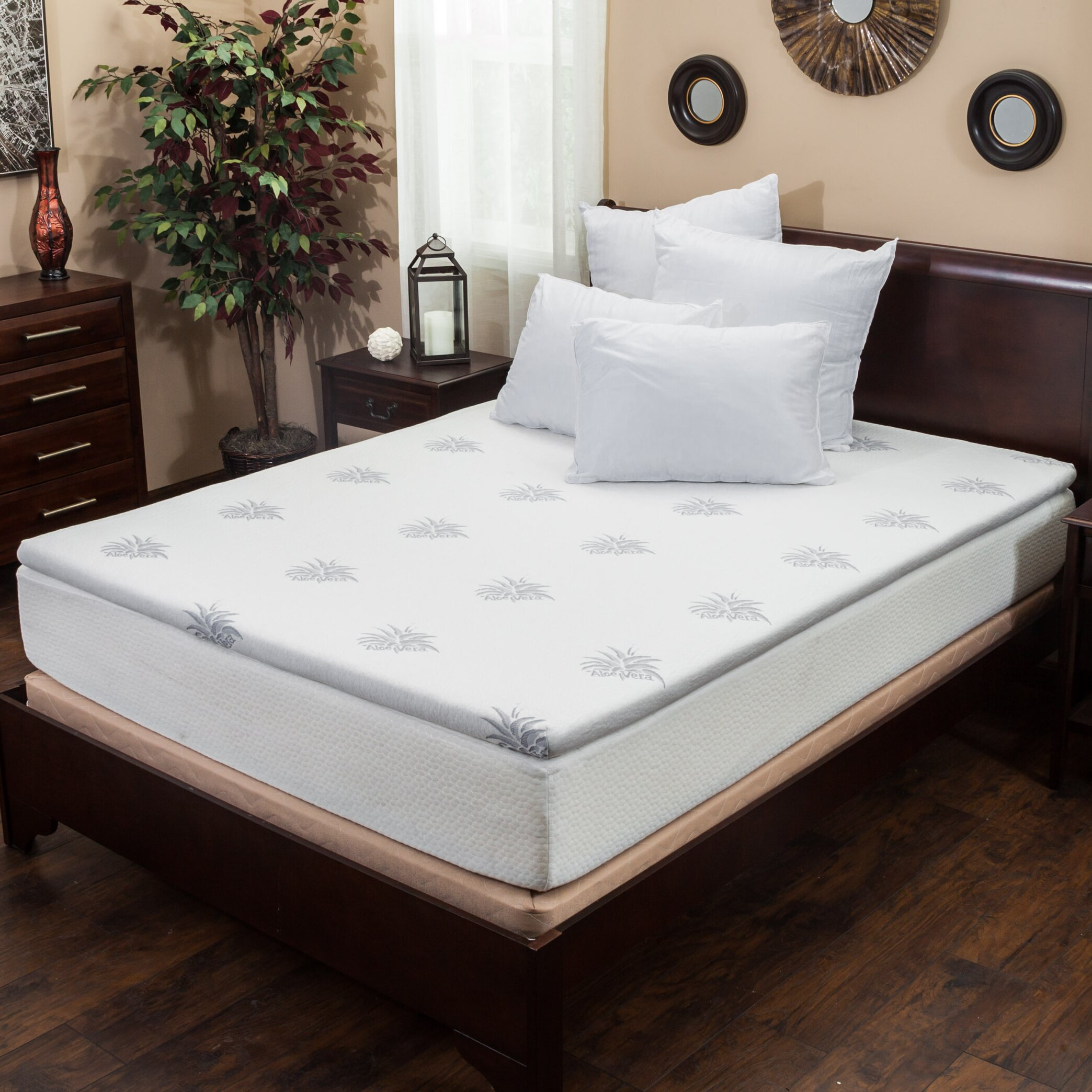 Home Loft Concepts Gel Memory Foam Mattress Topper