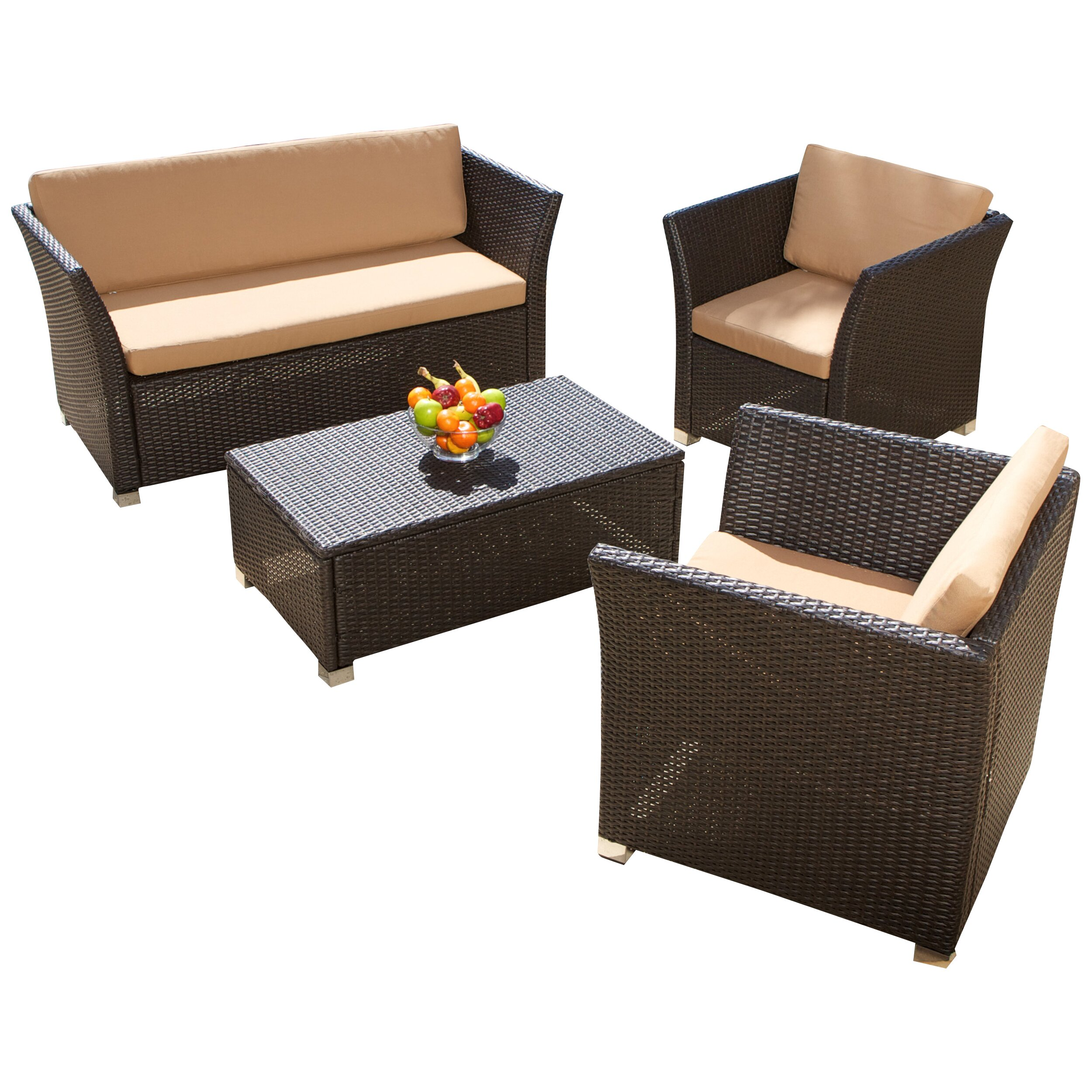 Home Loft Concepts Niguel 4 Piece Seating Group With