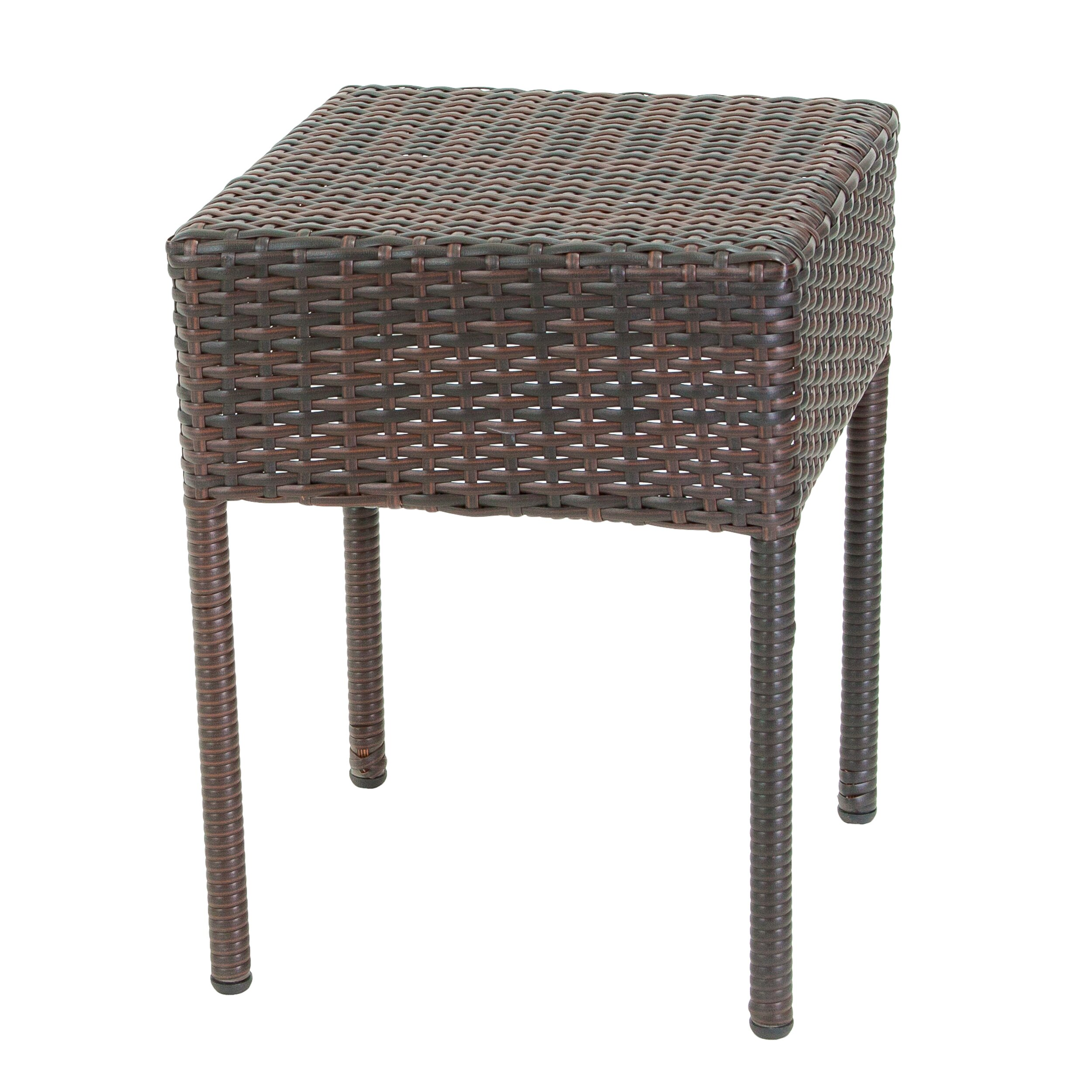 home loft concepts anchorage wicker outdoor accent table reviews wayfair