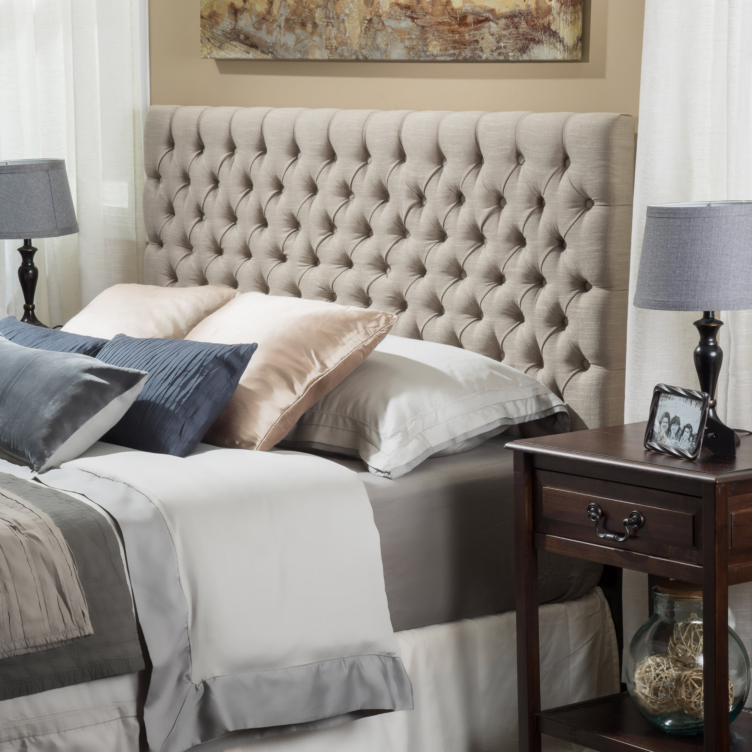 Home Loft Concepts Finnegan Upholstered Panel Headboard