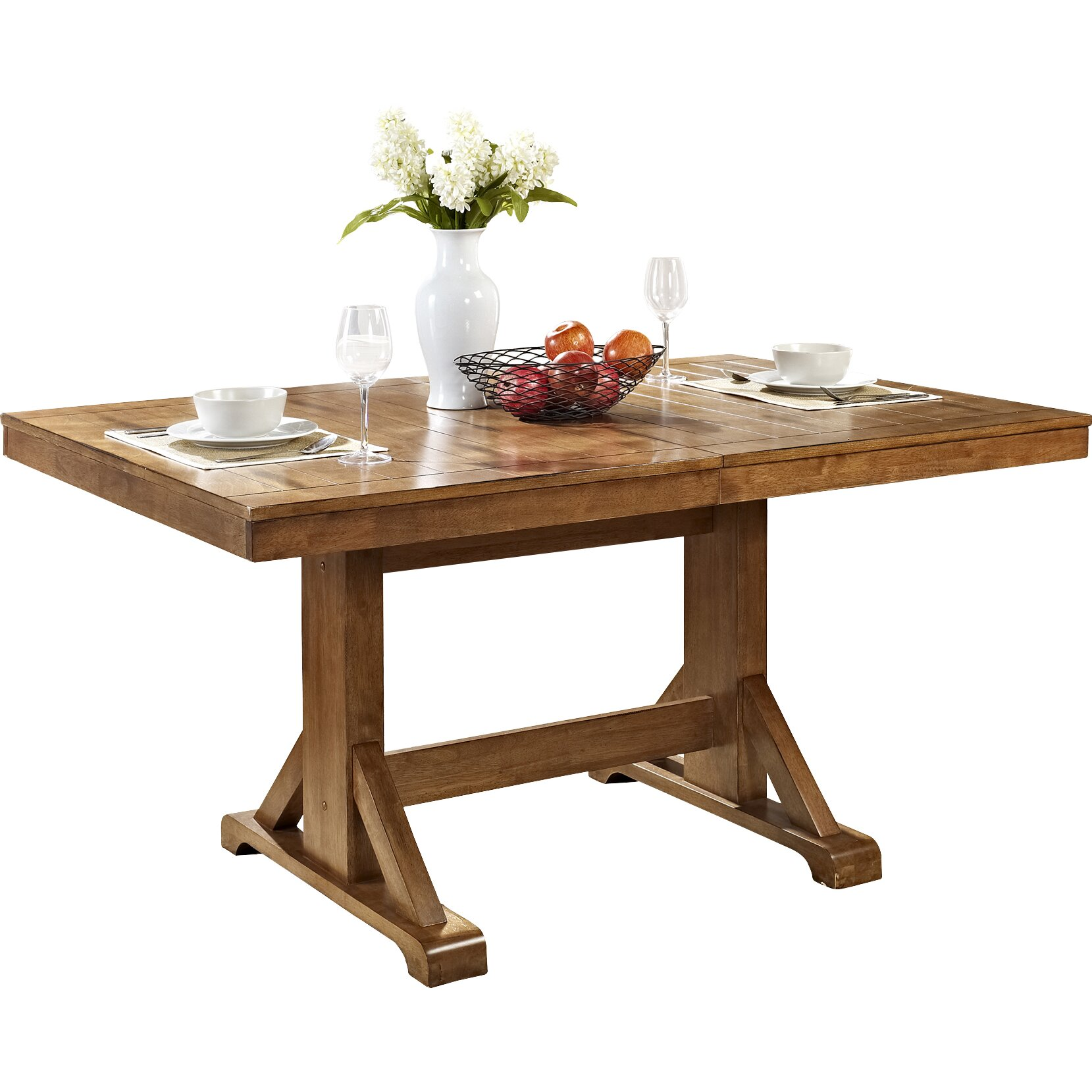 Home loft concepts extendable dining table reviews wayfair for Wayfair dining table