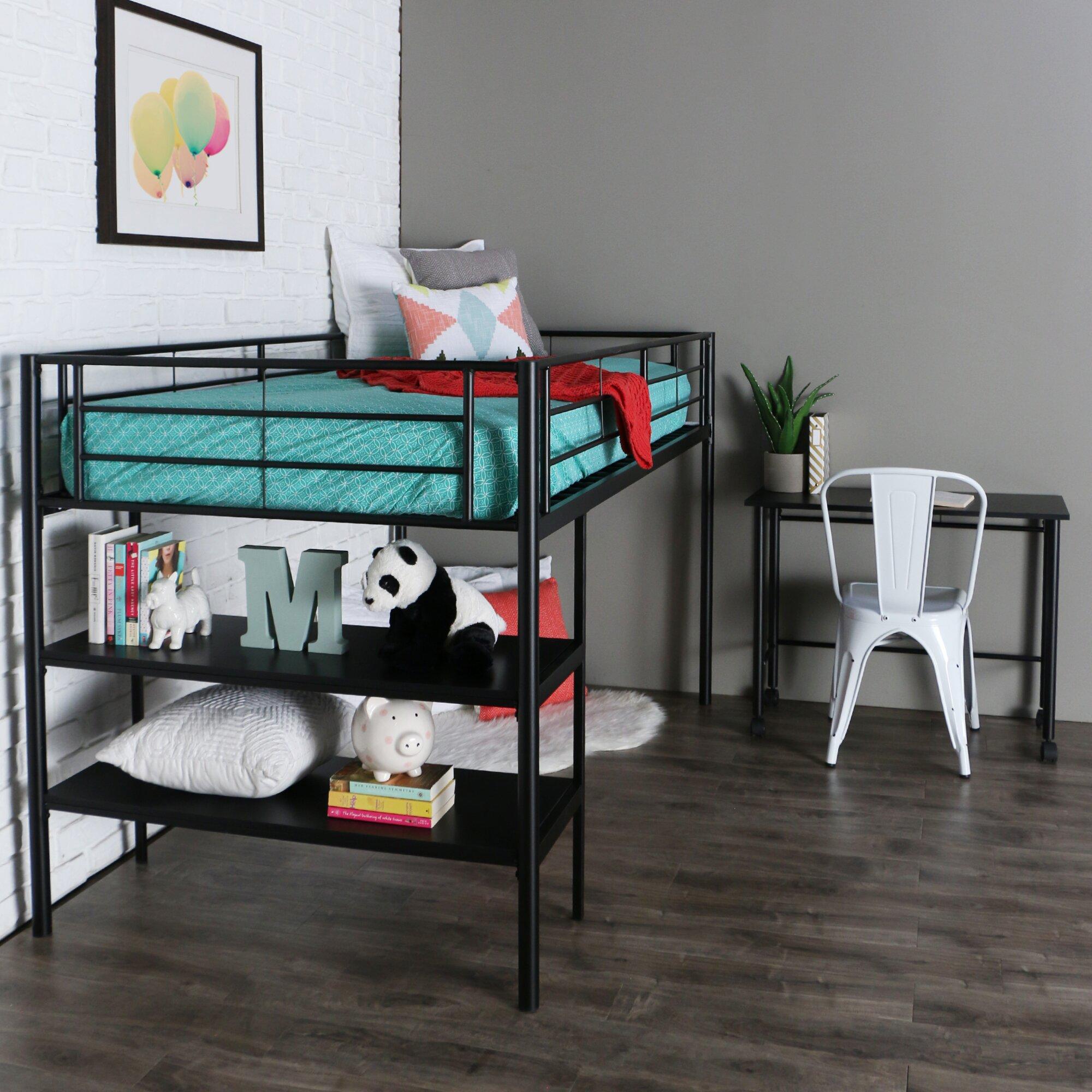 Home Loft Concepts Twin Loft Bed Amp Reviews Wayfair