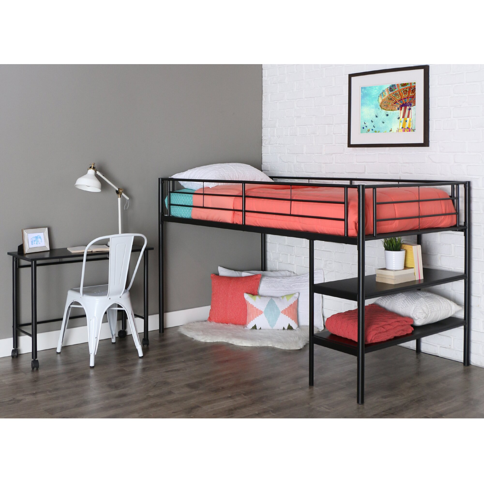 Loft Bed: Home Loft Concepts Twin Loft Bed & Reviews