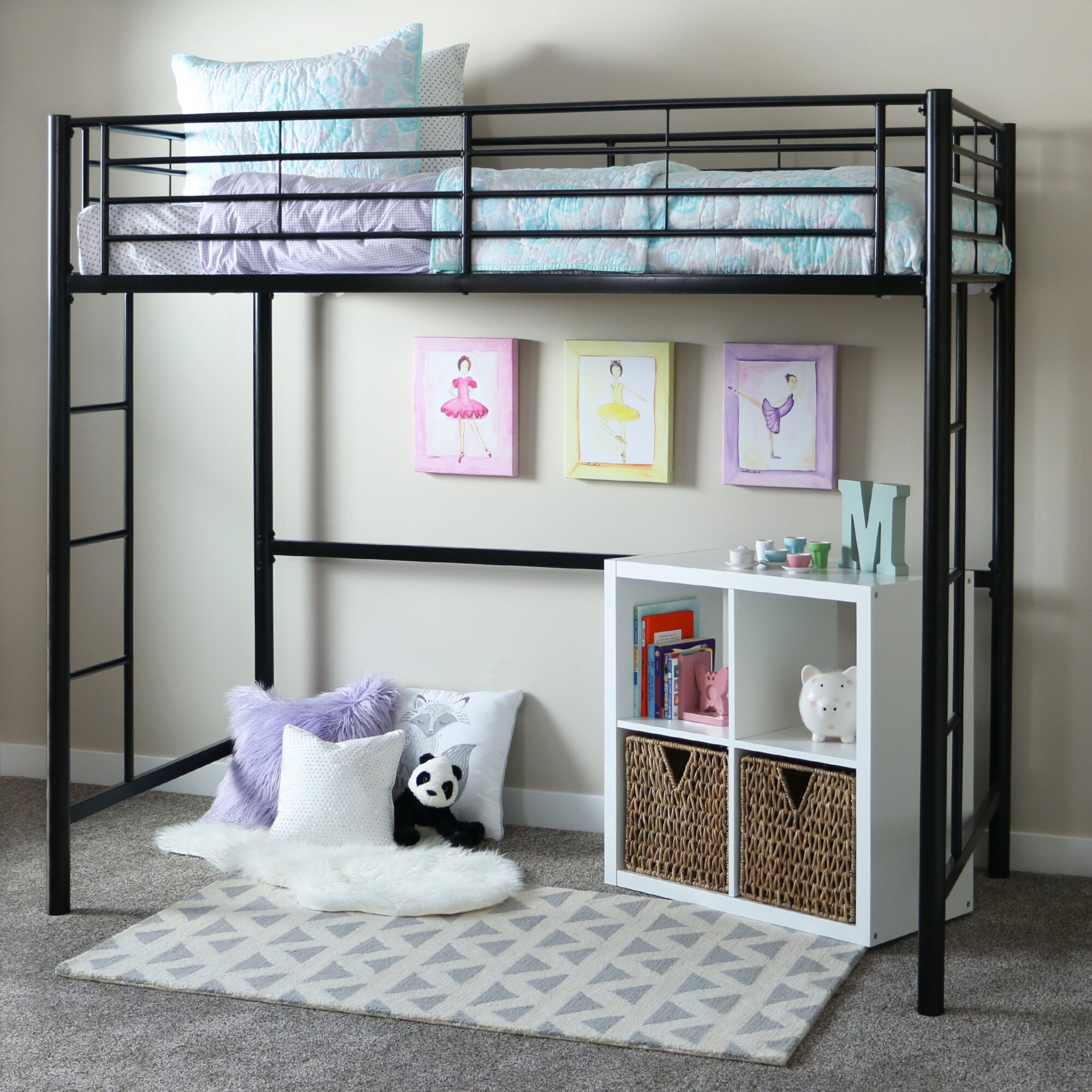 Home Loft Concepts Metal Twin Loft Bed & Reviews