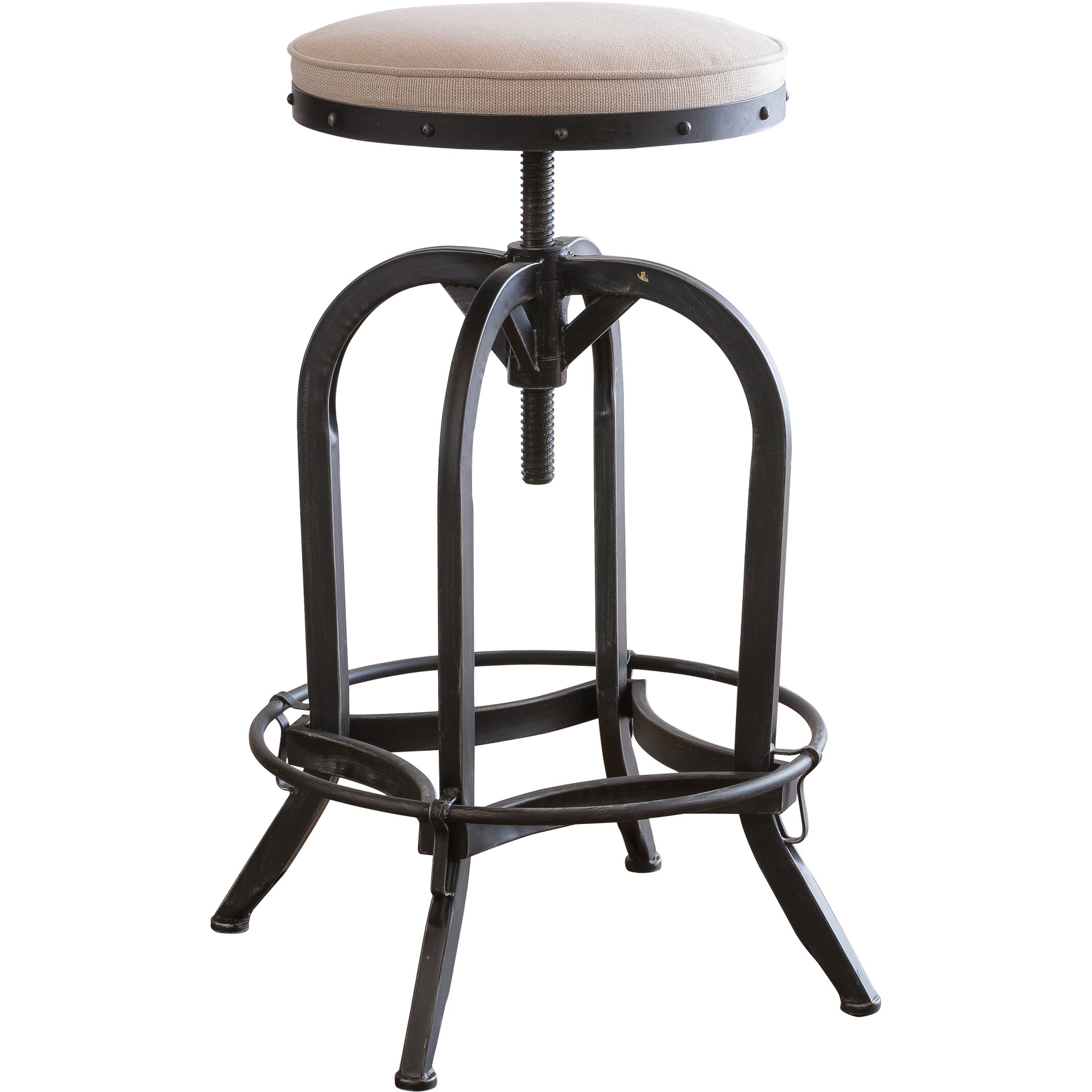 Home Loft Concepts Adjustable Height Swivel Bar Stool  : Home Loft Concepts Adjustable Height Swivel Bar Stool NFN2666 from www.wayfair.com size 2135 x 2135 jpeg 263kB