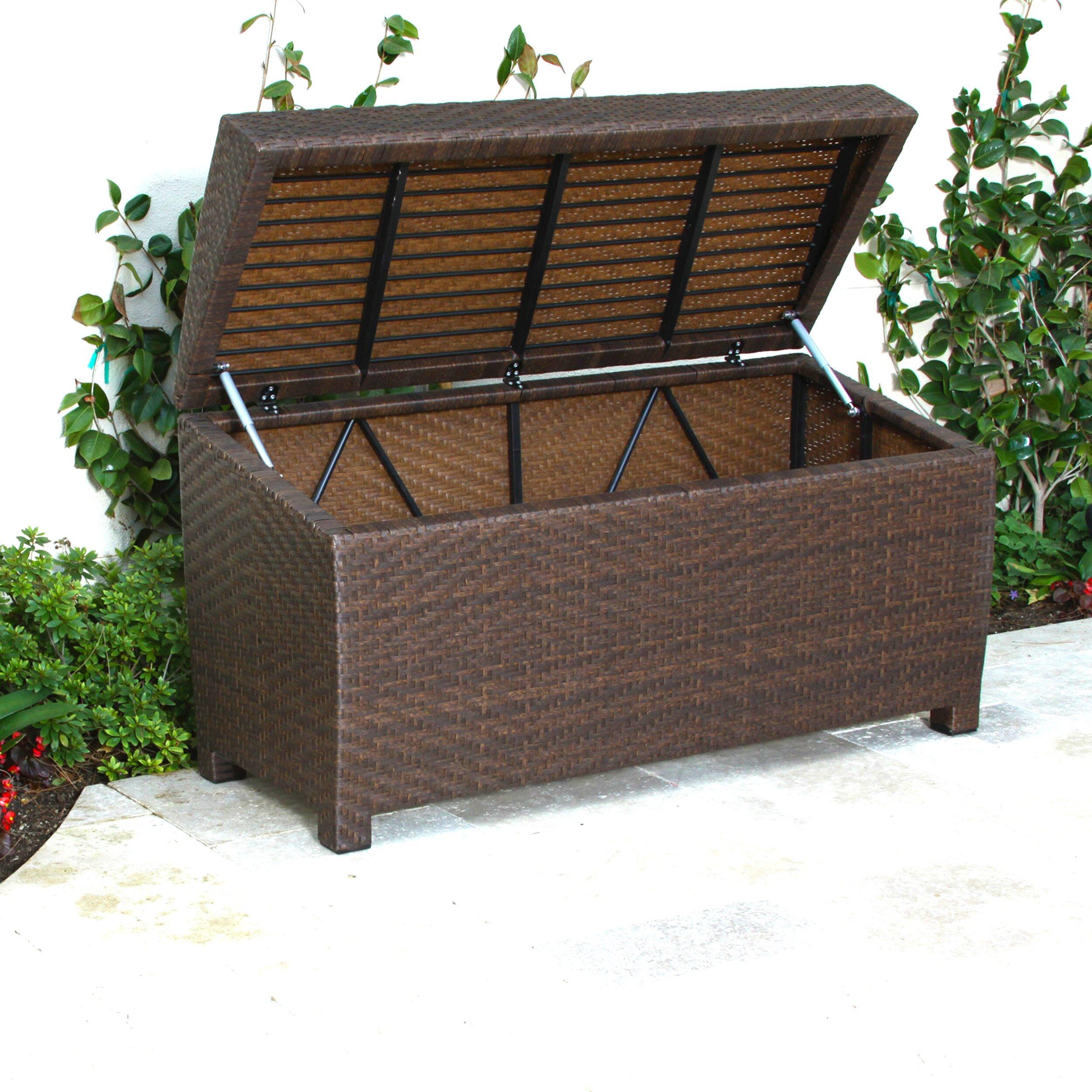 Home Loft Concepts Managua Outdoor 70 Gallon Wicker Deck Box Amp Reviews Wayfair