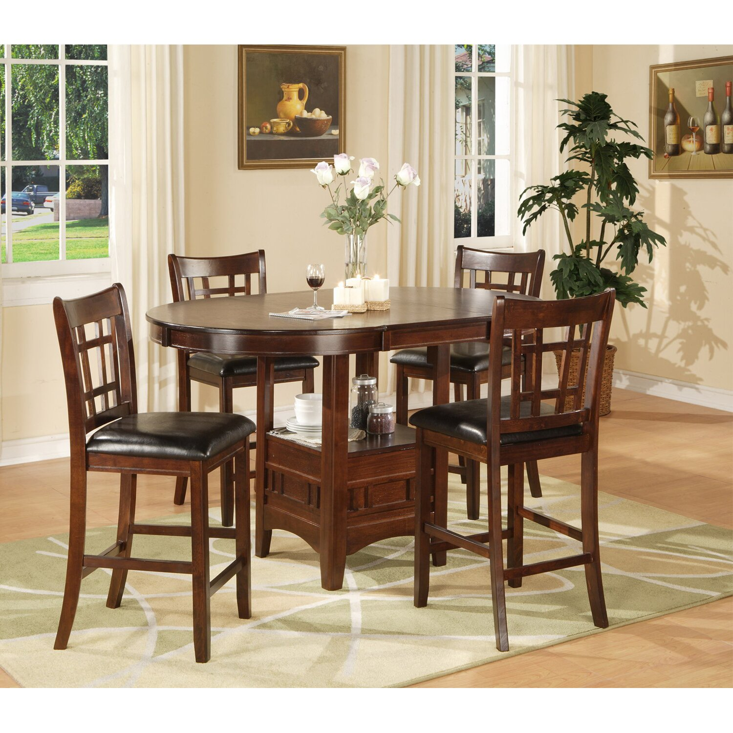 Counter Height Dining Sets 5 Piece : Hazelwood Home Counter Height Dinette 5 Piece Set & Reviews Wayfair