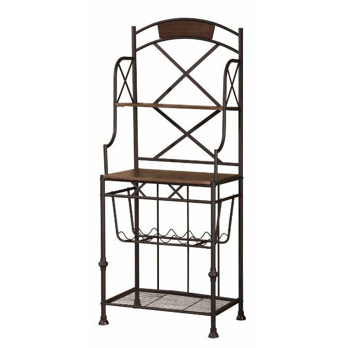 hazelwood home storage baker 39 s rack wayfair. Black Bedroom Furniture Sets. Home Design Ideas