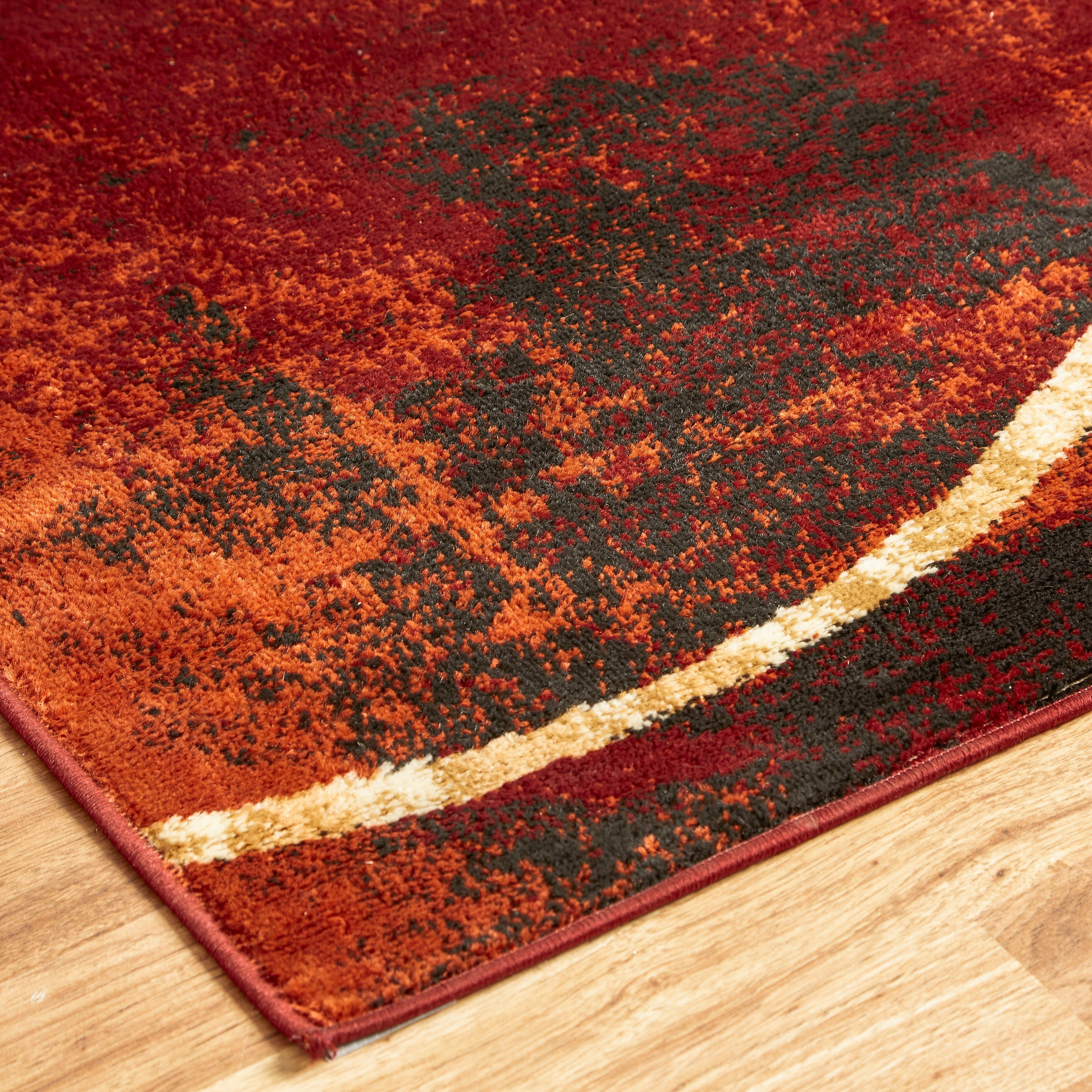 Andover mills eileen red and gold area rug reviews wayfair for Red and gold area rugs