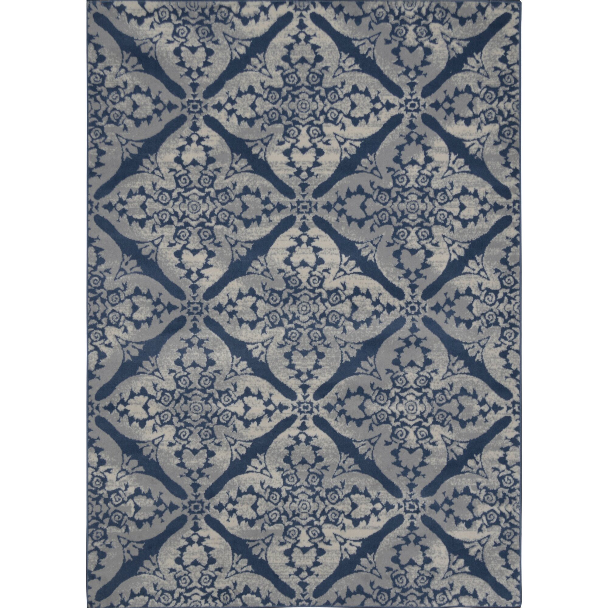 Andover mills blue grey area rug reviews for Blue and white carpet