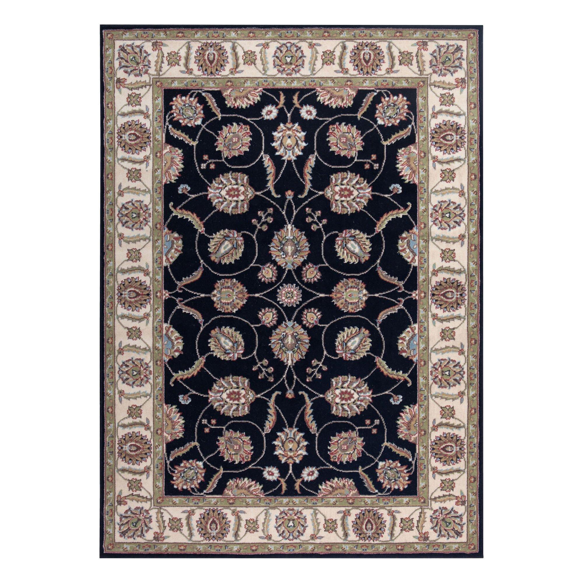 andover mills refton black gray area rug reviews wayfair. Black Bedroom Furniture Sets. Home Design Ideas