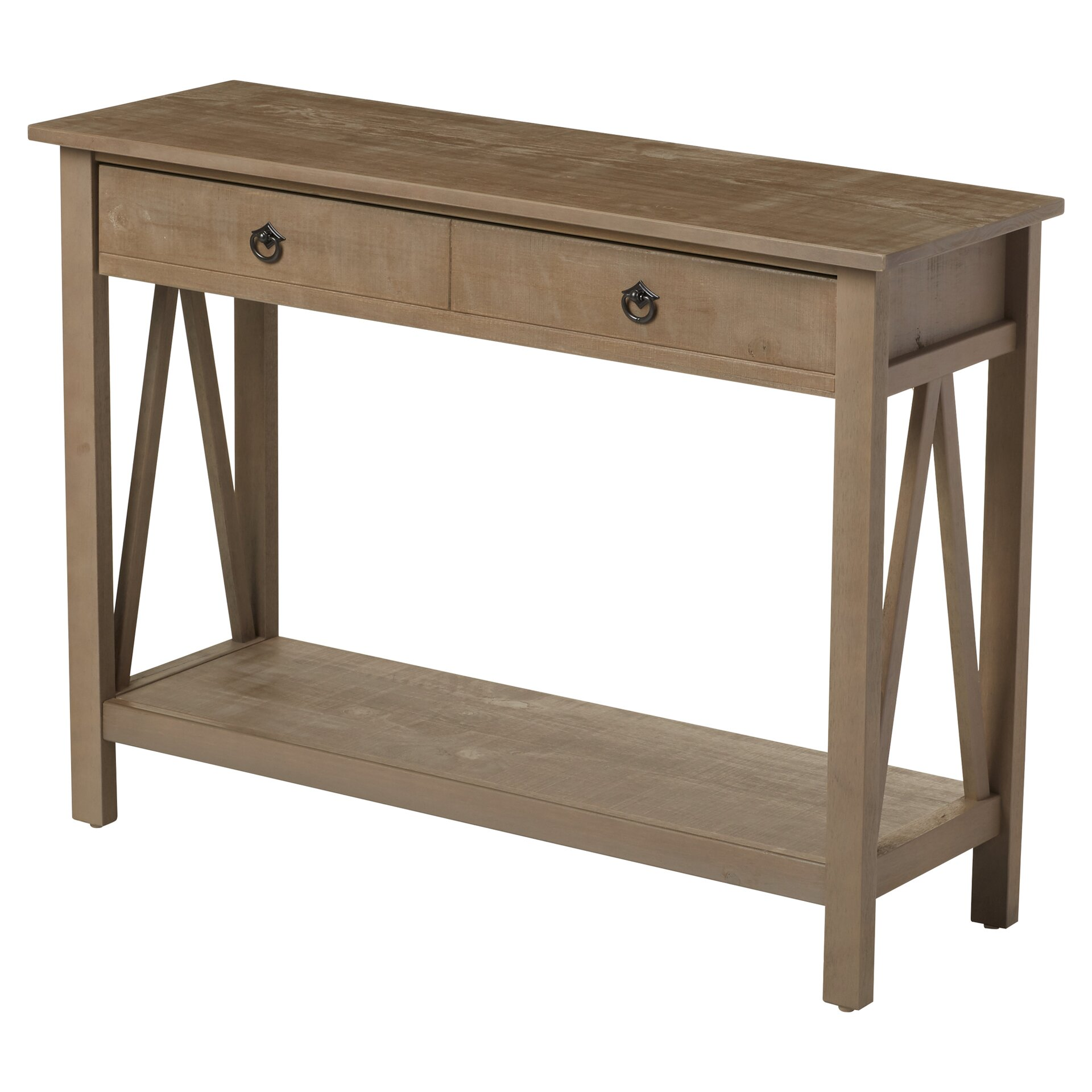 Andover mills soule console table reviews wayfair for Table console